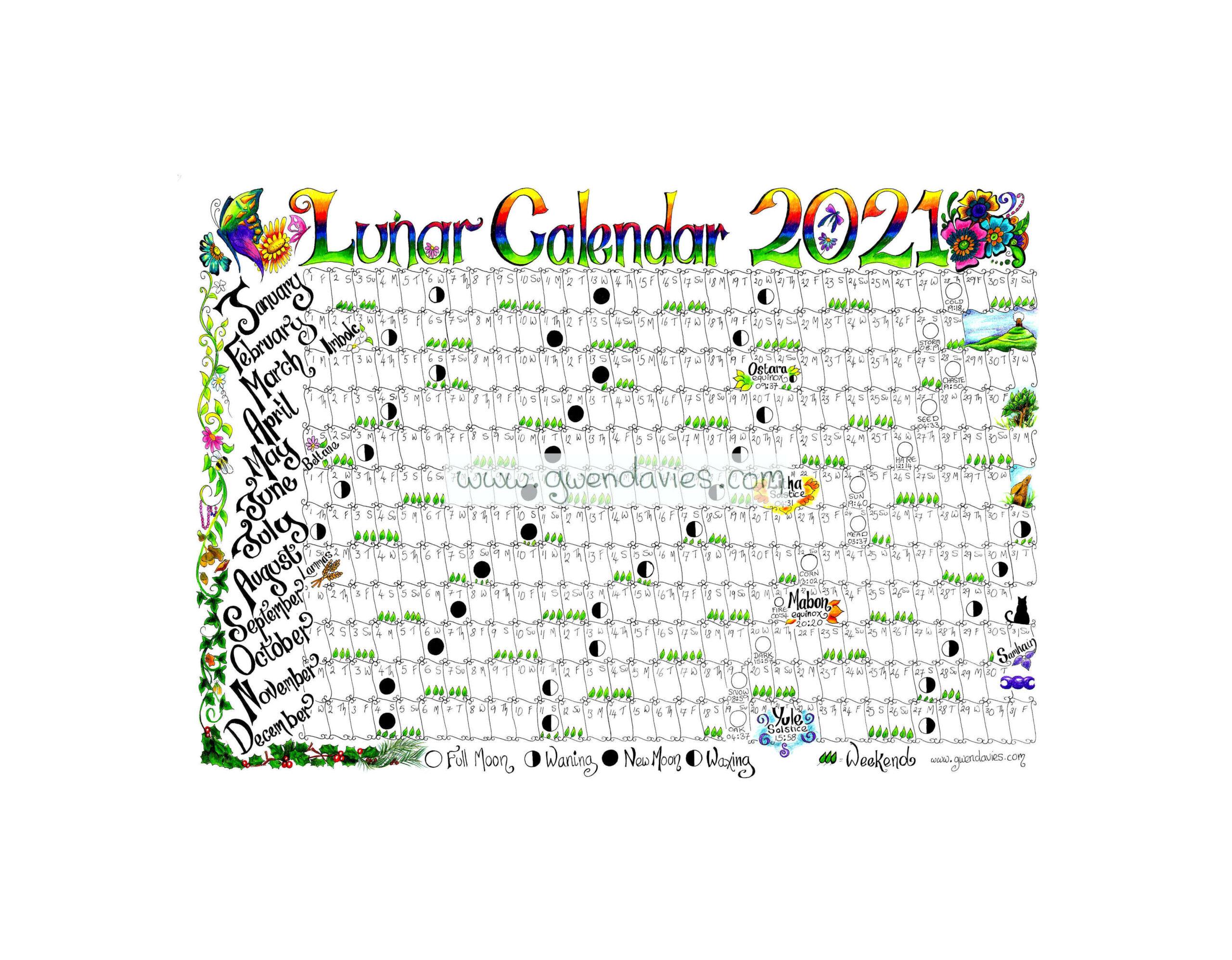 2021 Lunar Calendar A4