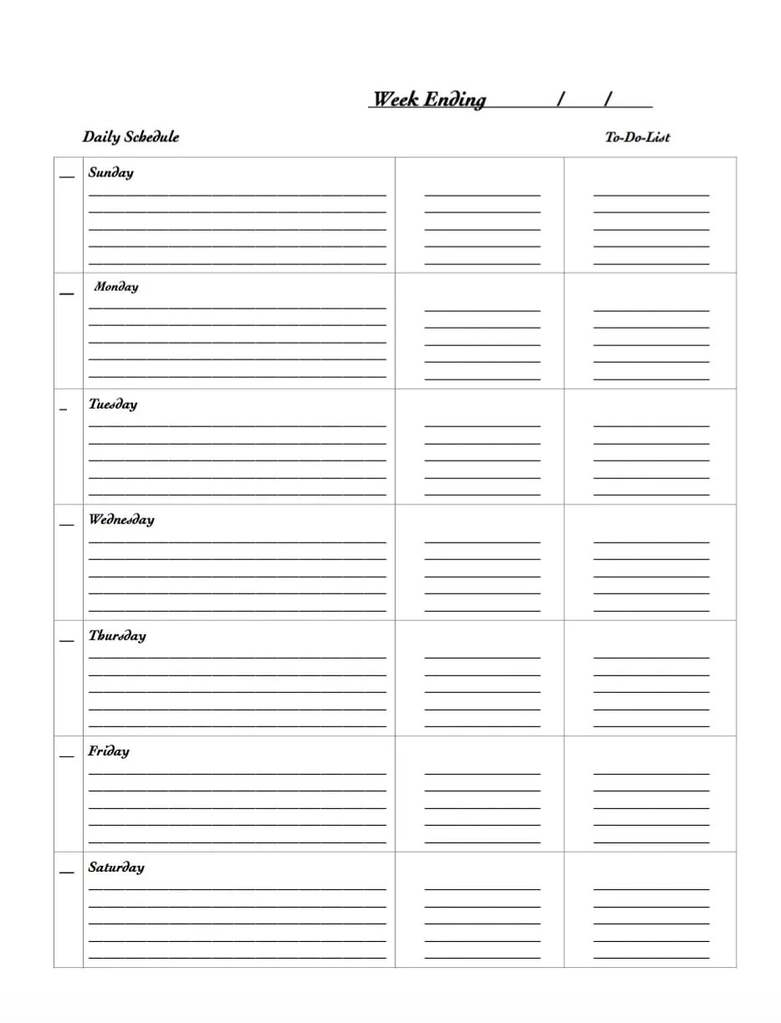 29 Free Weekly Planner Template Printables For 2021