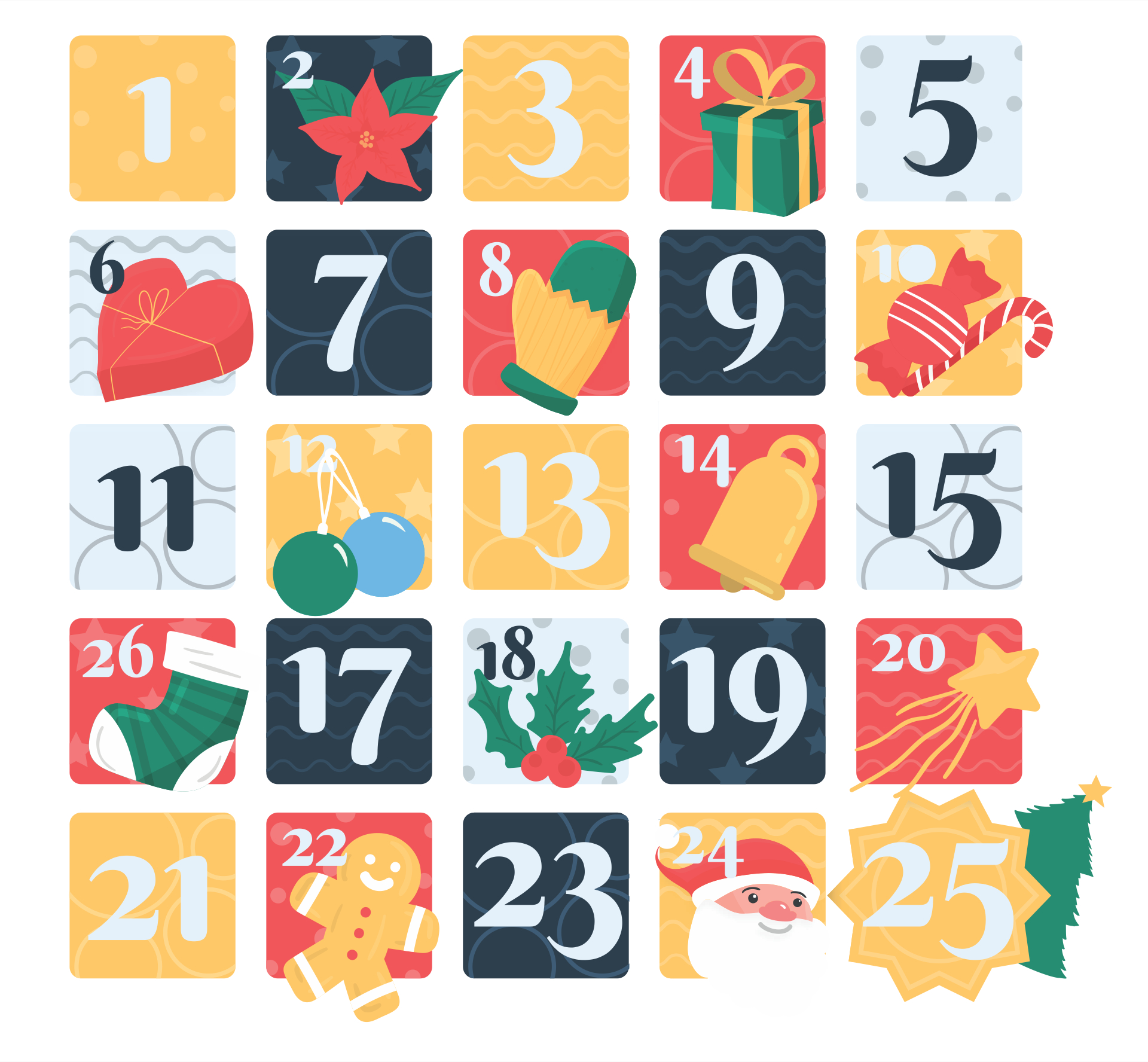 6 Best Images Of Free Printable Christmas Numbers 1 To 31