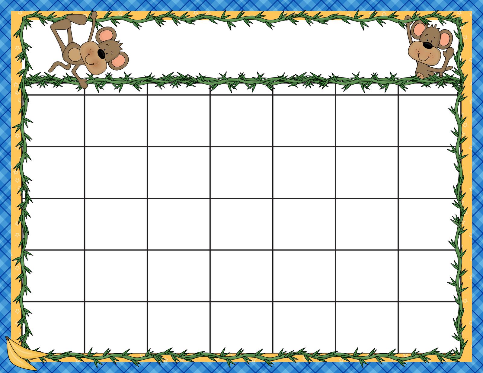 7 Best Kindergarten Monthly Calendar Printable - Printablee
