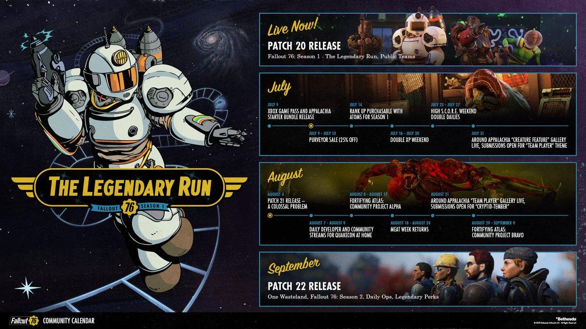 """Agent Strange On Twitter: """"Fallout 76 Community Calendar For"""