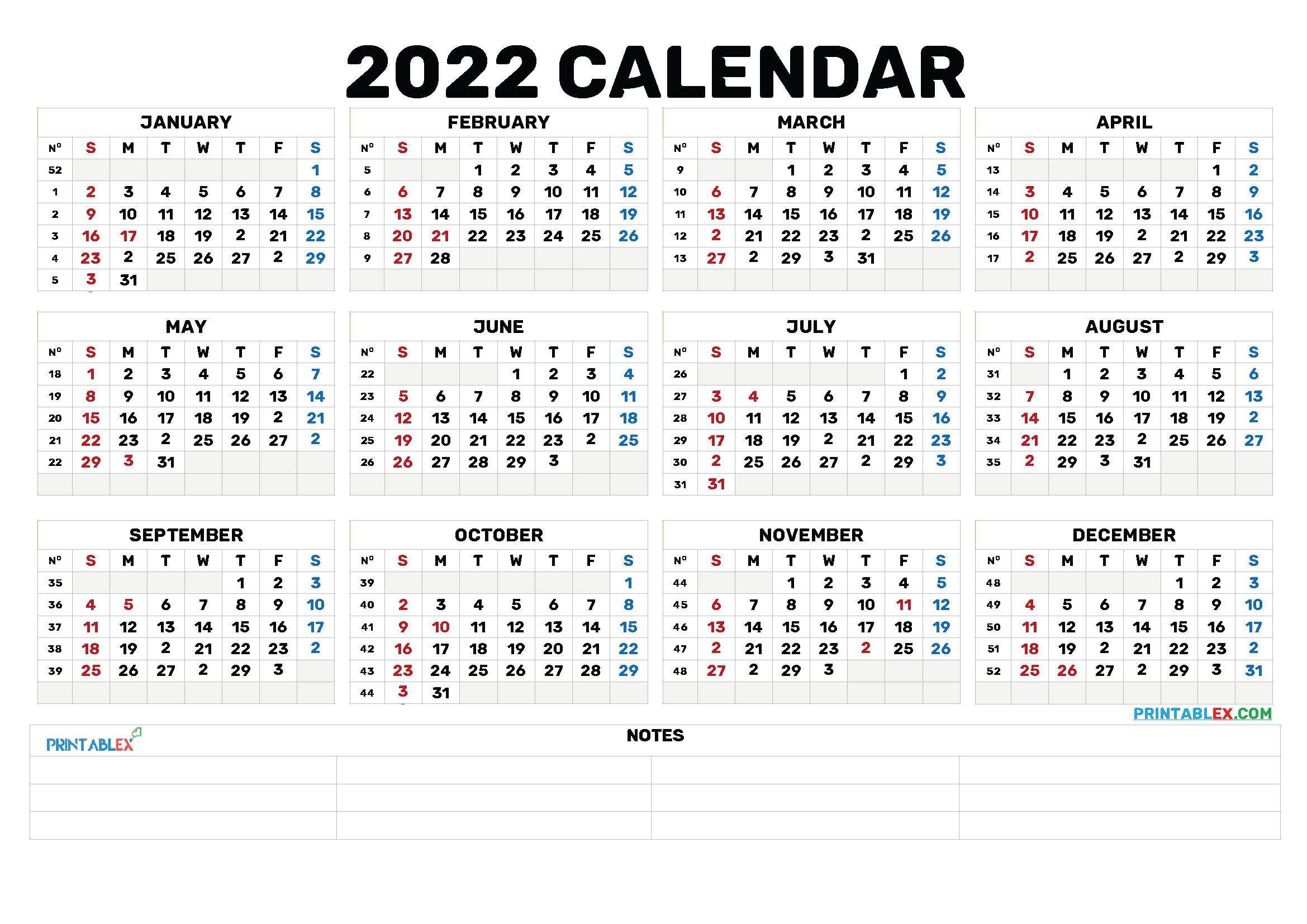 Bold – 2021 Free Printable