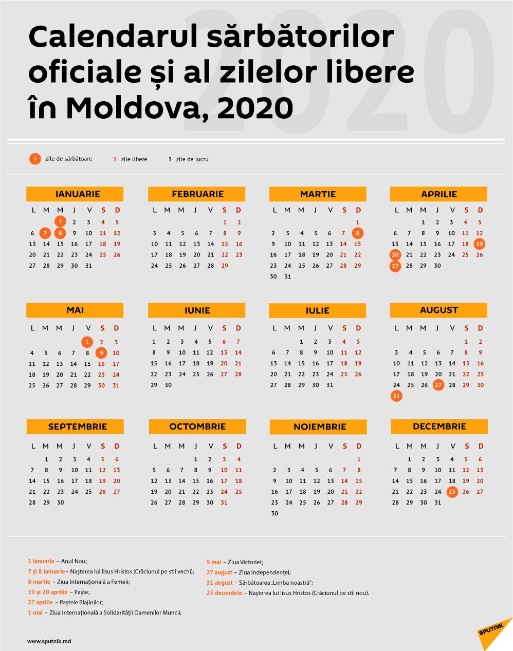 Calendar 2020 Zile Lucratoare | Calendar For Planning