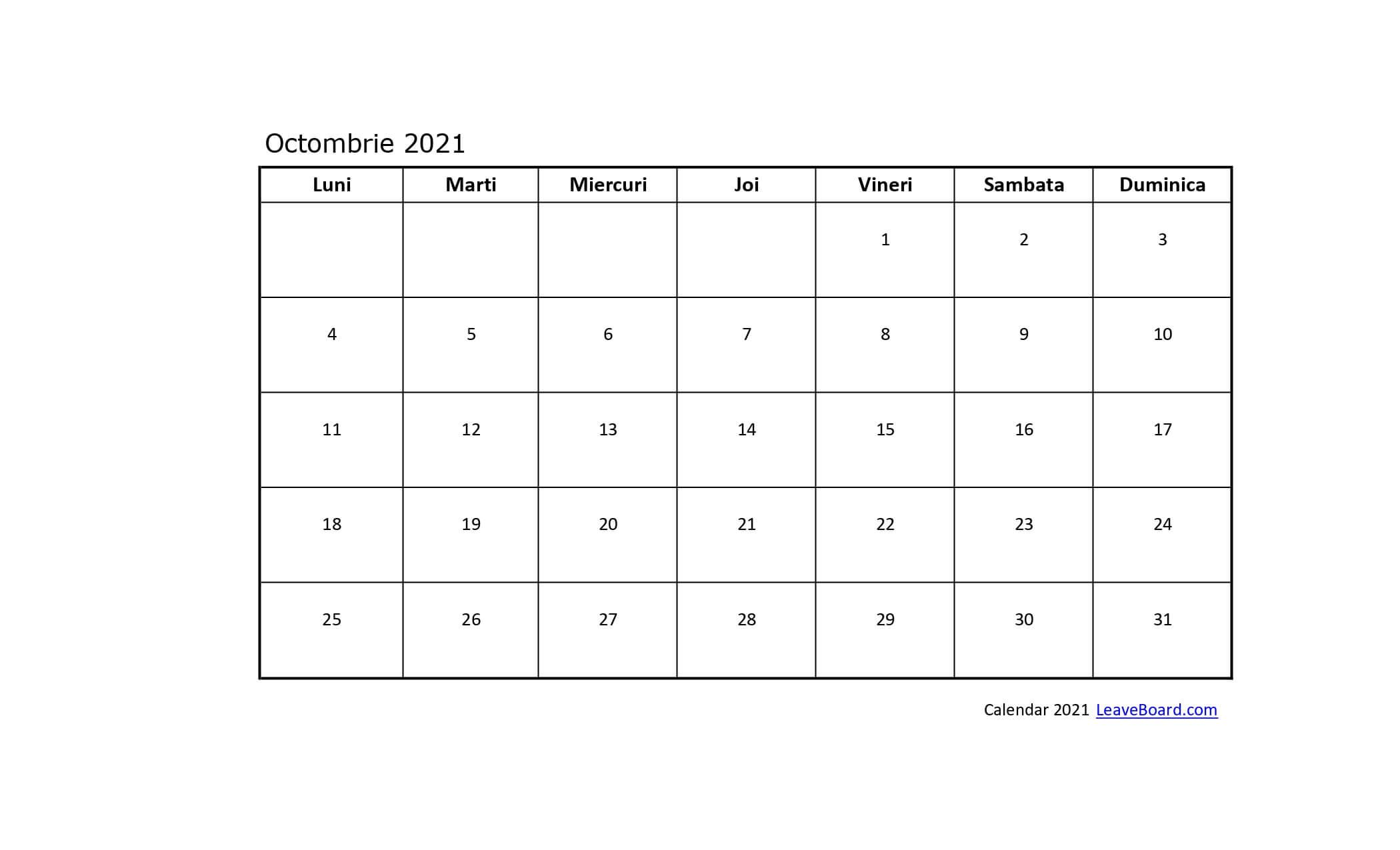 Calendar 2021 | Leaveboard
