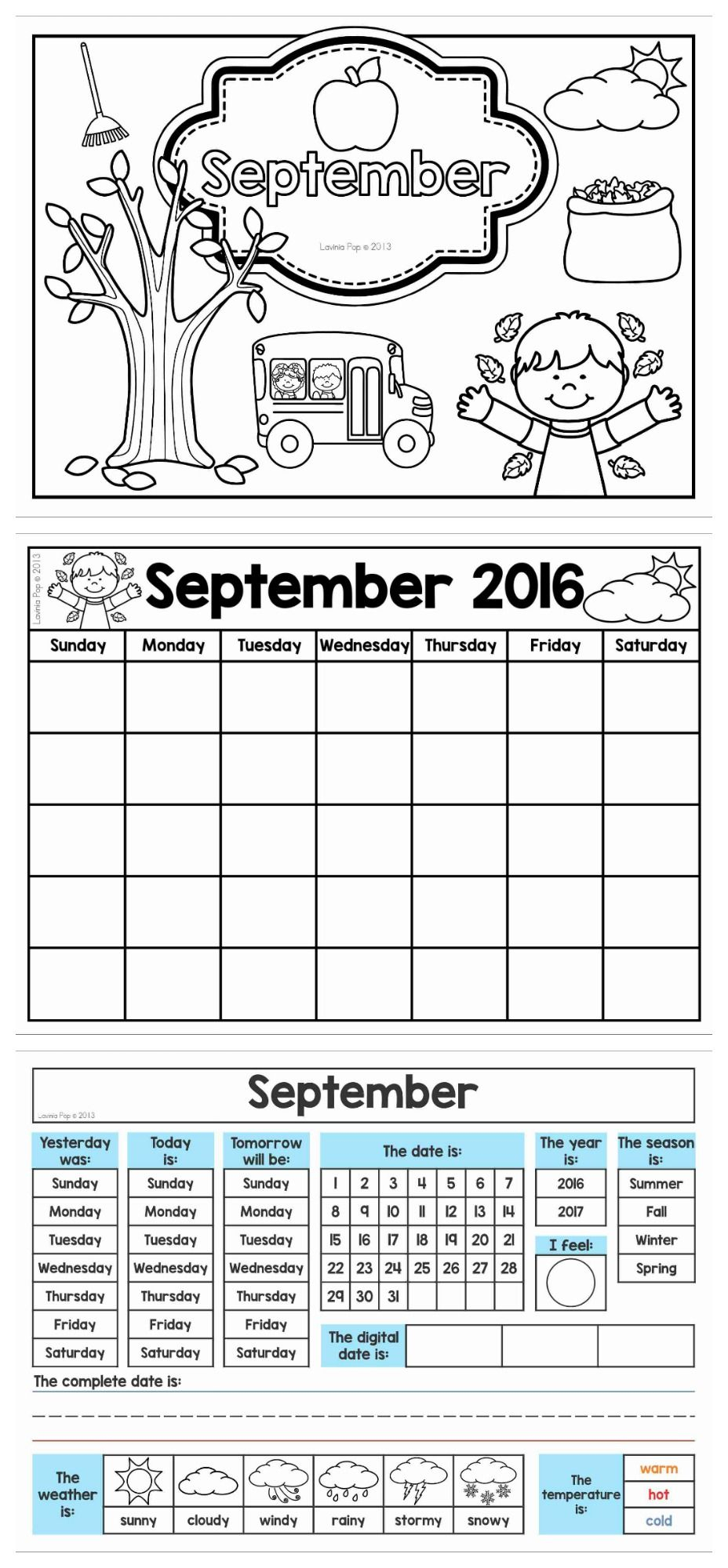 Calendar And Weather Journal. Get The Pages For September