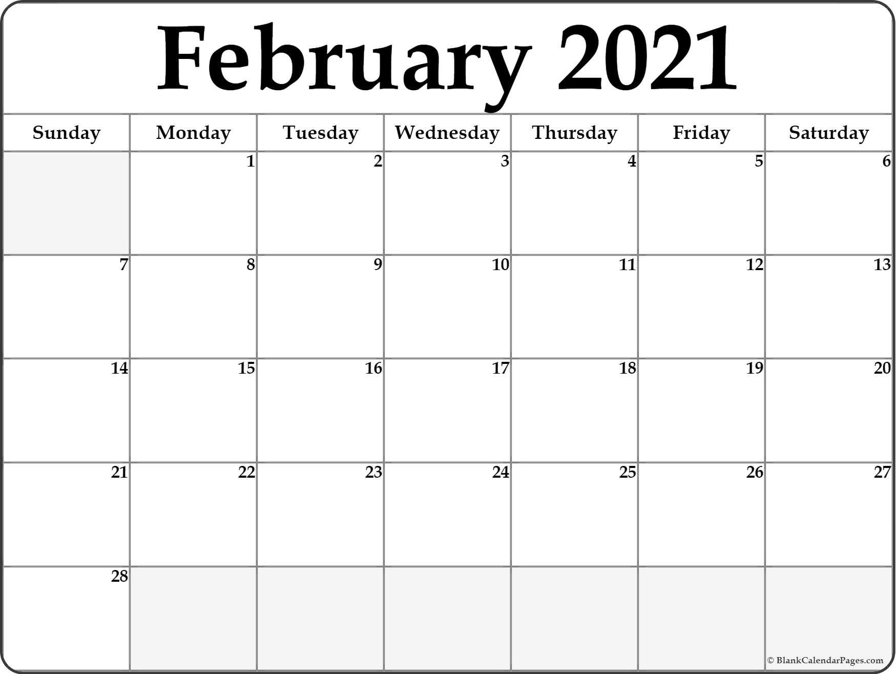Calendar February 2021 Editable Planner In 2020   Calendar