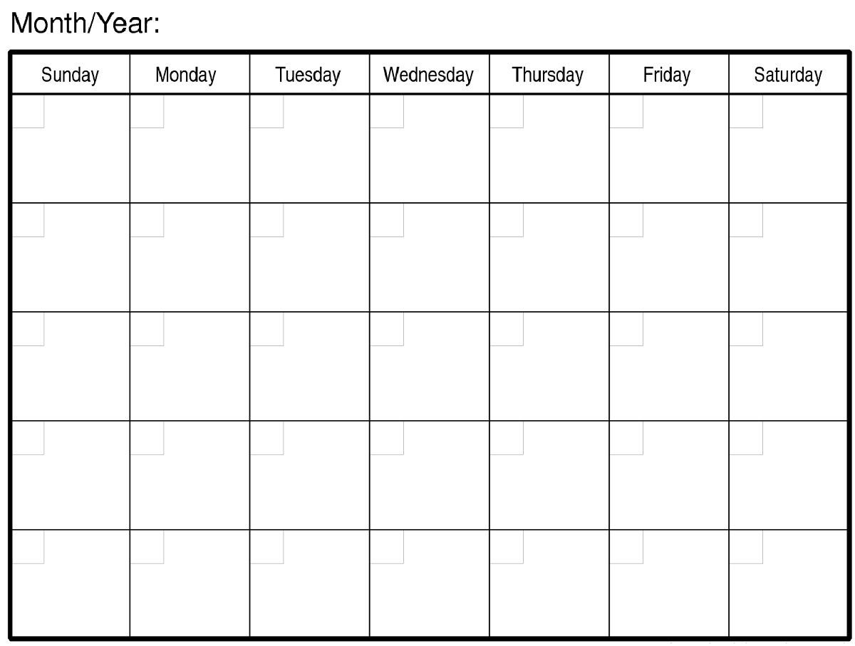 Calendar Template Large Boxes 4 Common Mistakes Everyone