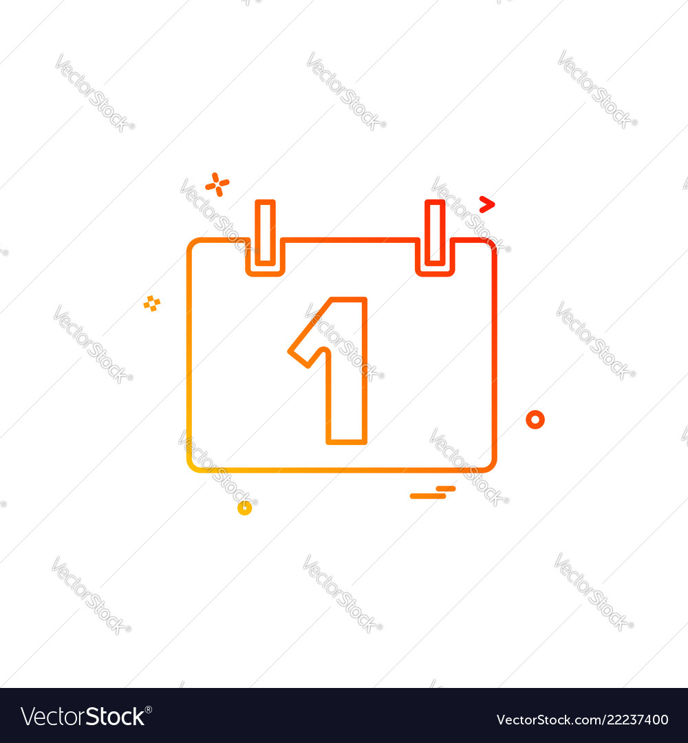 Calendar Time Date Icon Royalty Free Vector Image
