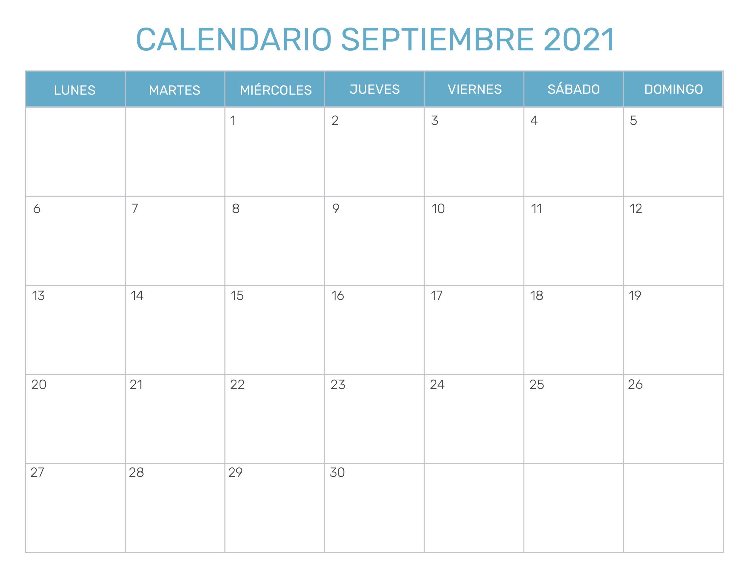 Calendario Mensual Para Imprimir Año 2021