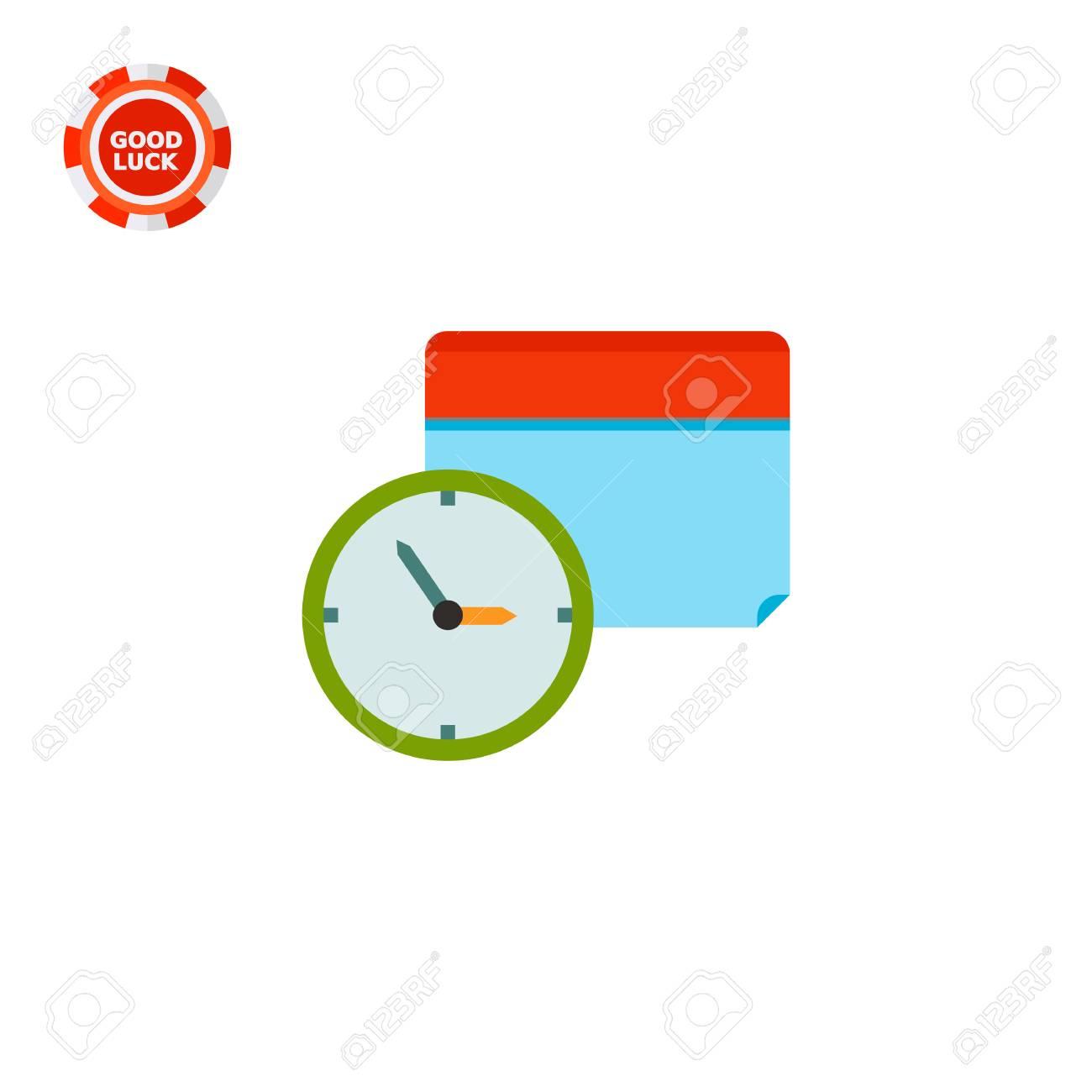 Clock And Calendar In Background. Schedule Event Date. Calendar..
