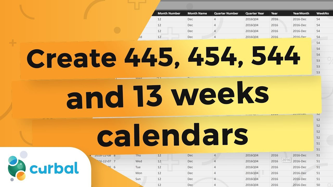 Create A Custom 4-4-5 Calendar That Self-Generates In Power Bi - Power Bi  Tips & Tricks 23