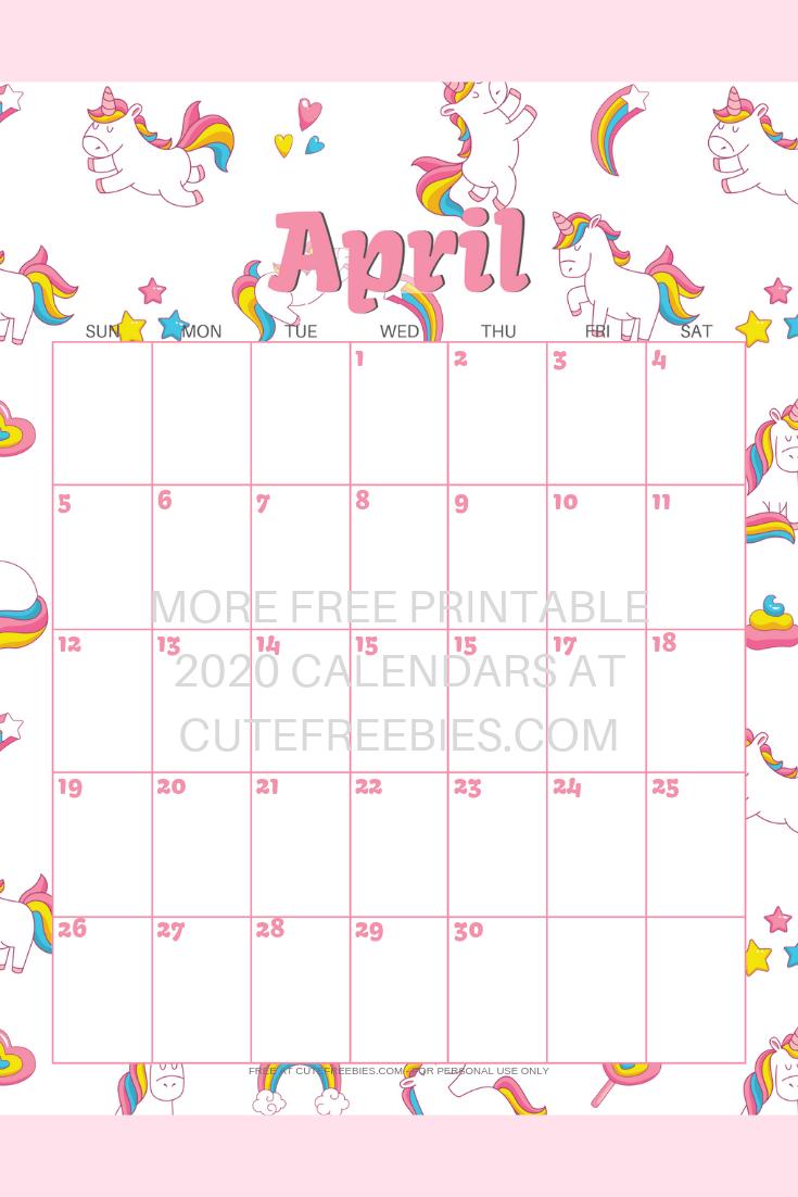 Cute Unicorn 2021 Calendar - Free Printable! - Cute Freebies