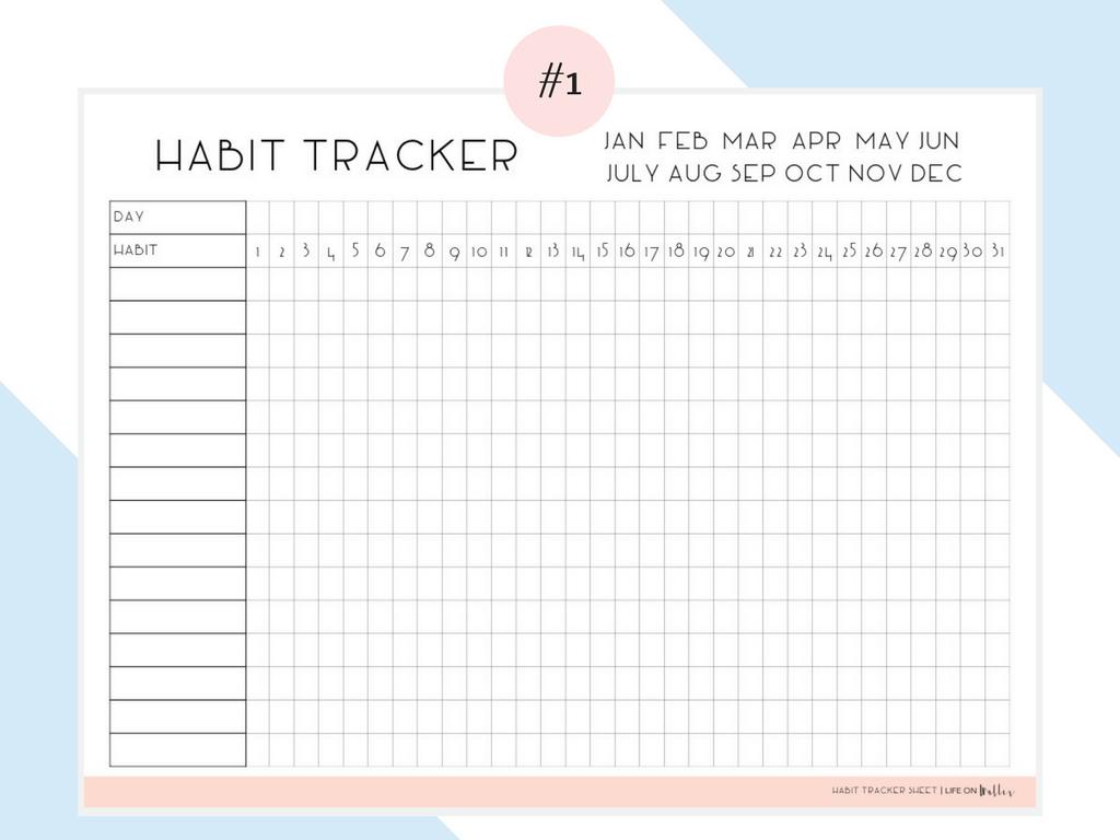 Daily Habit Tracker Free Printables - Cassie Scroggins In