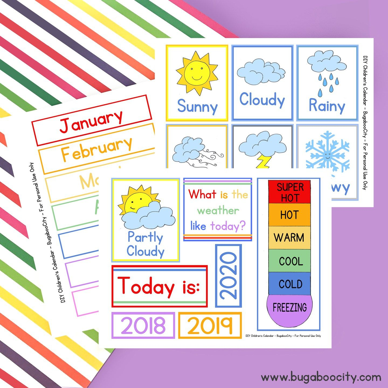 Diy Children'S Calendarcrafting Cheerfully | Preschool