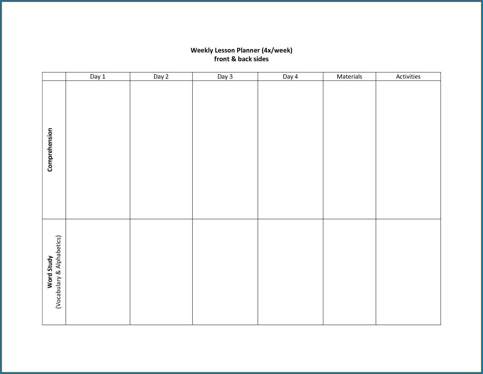 √ Free Printable 2 Week Calendar Template | Templateral