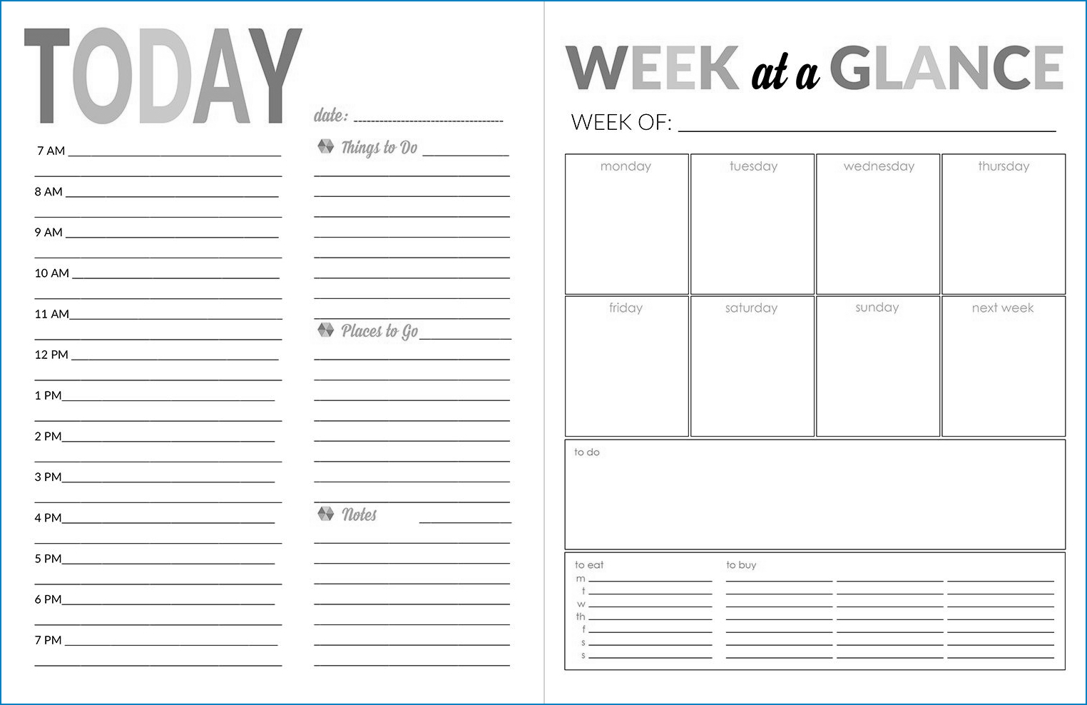√ Free Printable Daily Calendar Template | Templateral