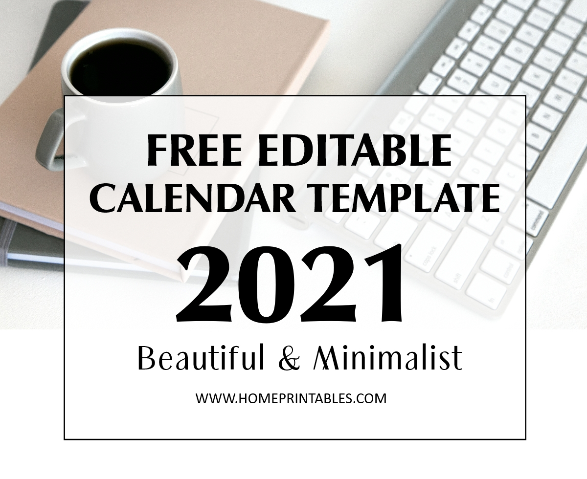 Editable Calendar 2021 In Microsoft Word Template Free Download