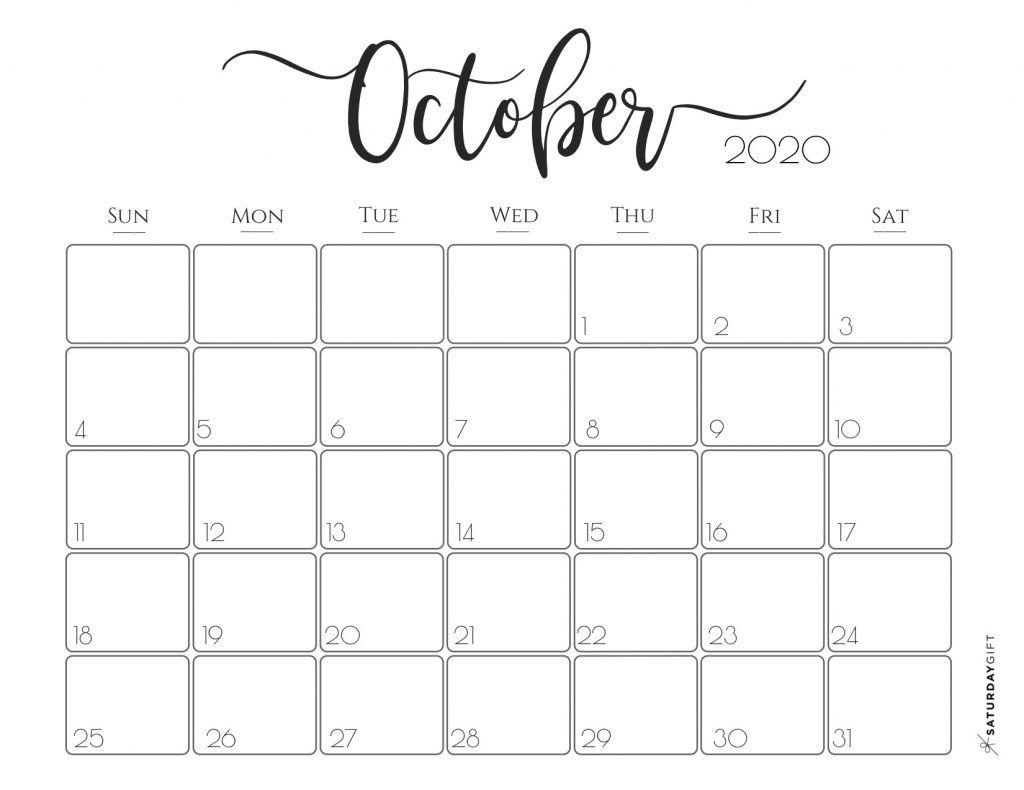 Elegant 2020 Calendar {Free Printables} | Monthly Calendar