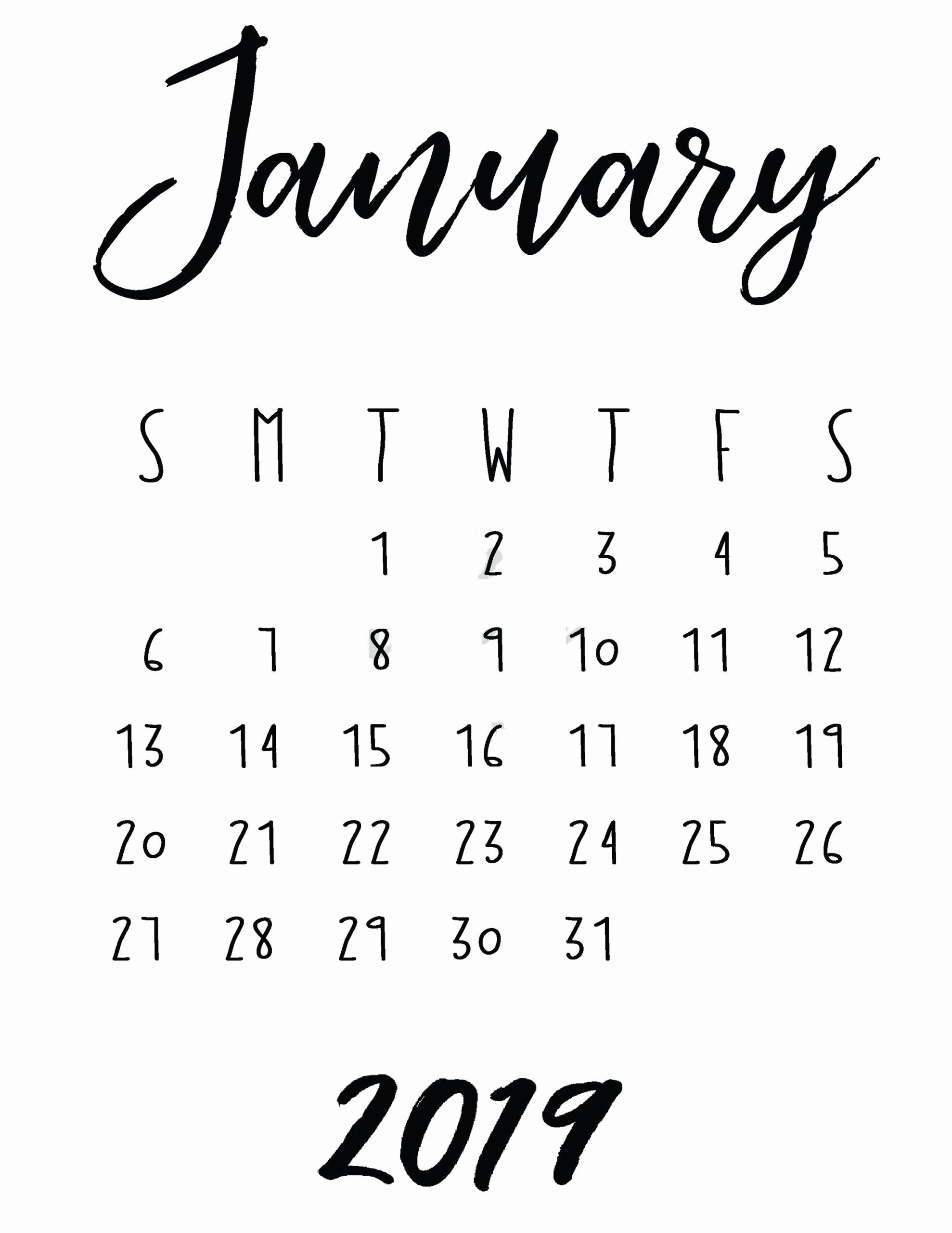 Elegant 58 Examples Printable Calendars In Bold Print Free