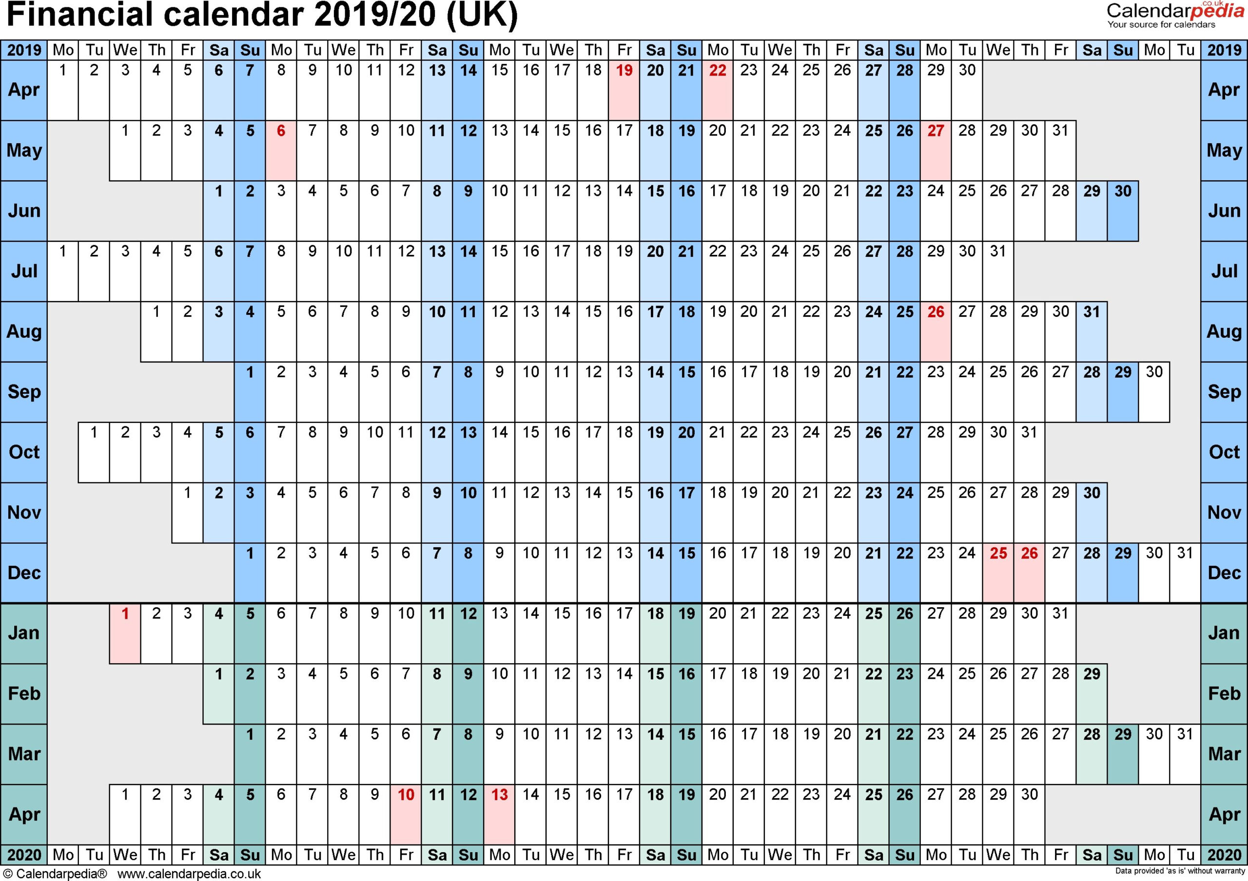 Financial Week Calendar Uk In 2020 | Calendar Uk Calendar