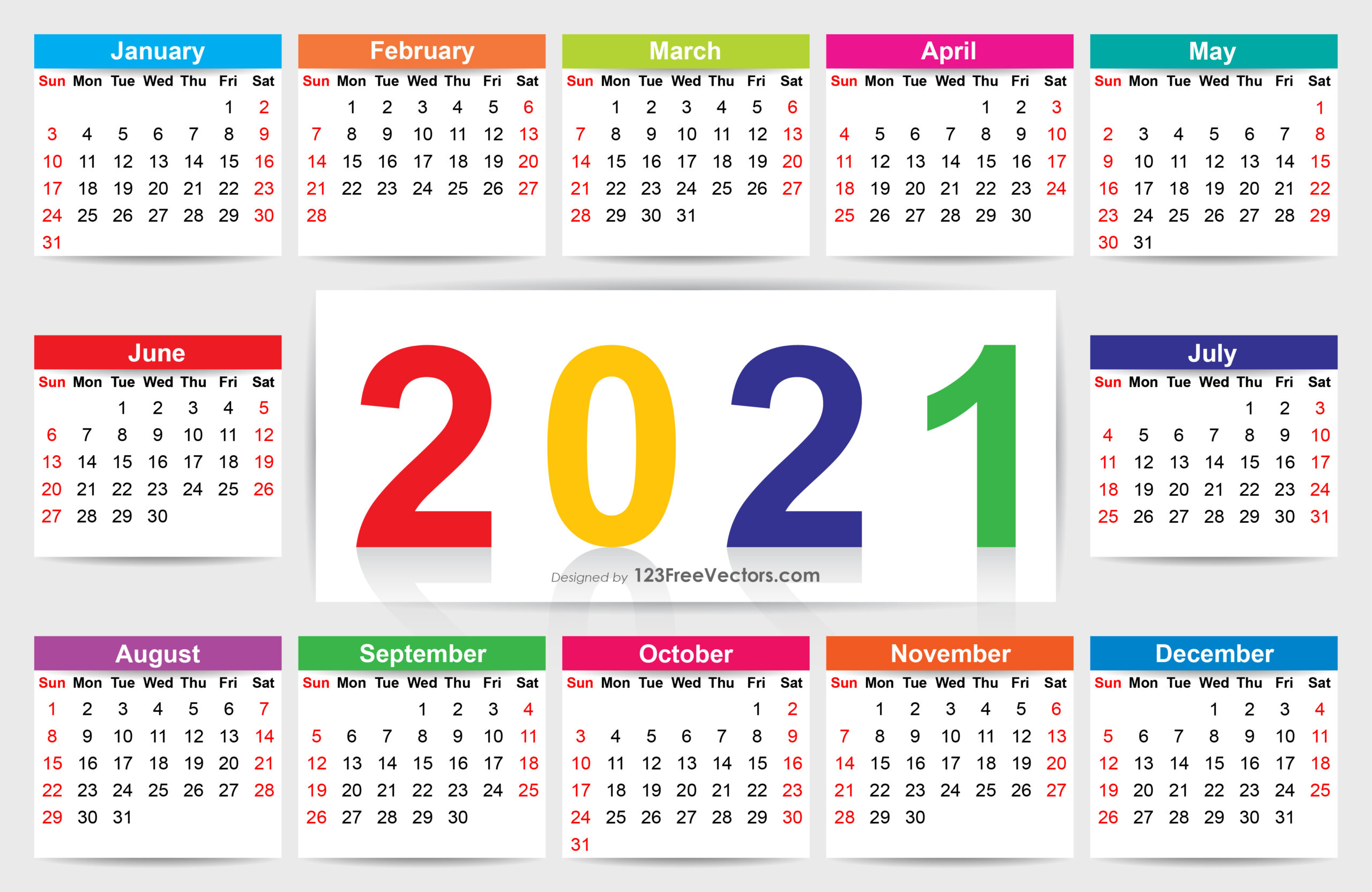 Free Download Calendar 2021