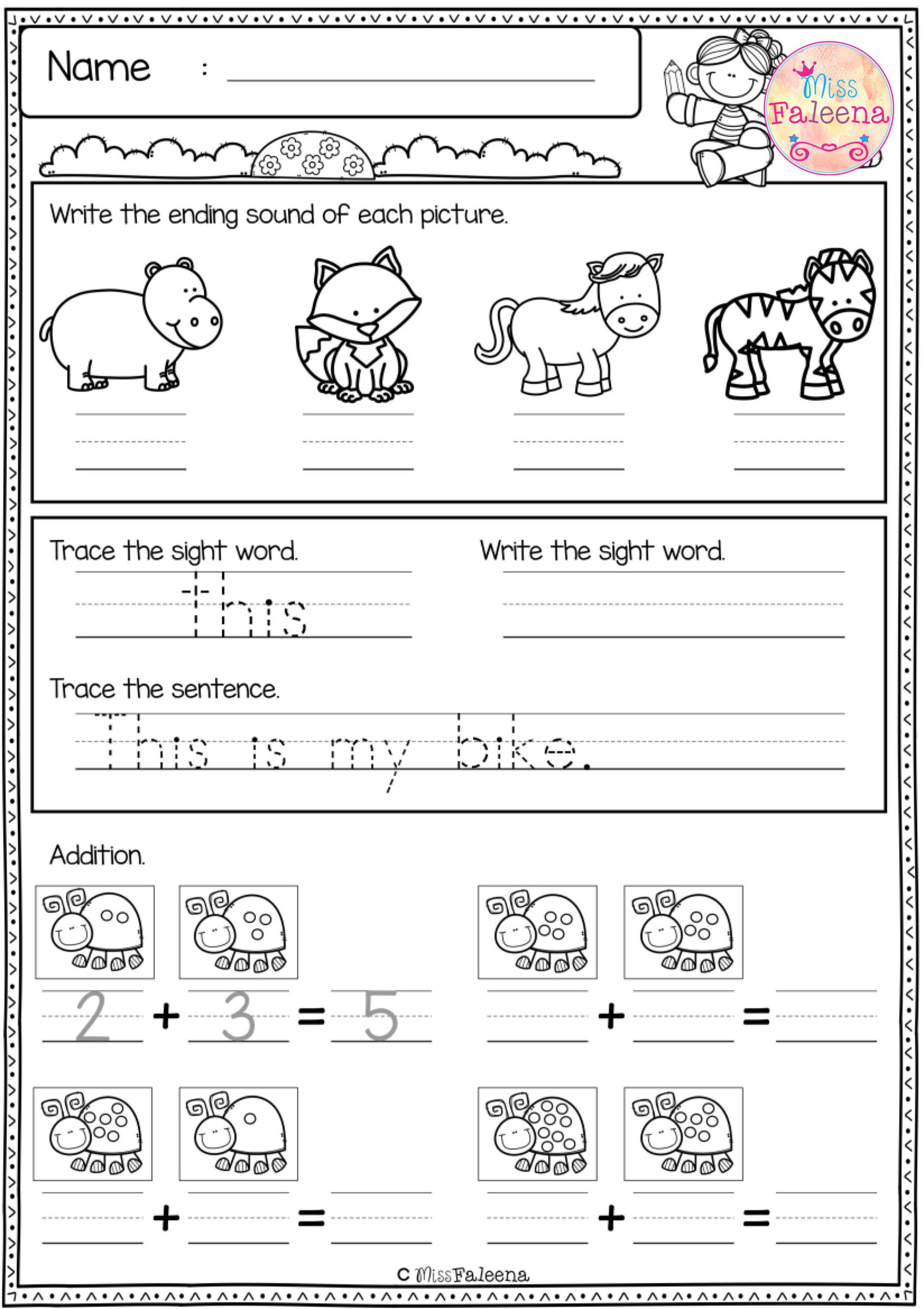 Free First Grade Morning Work Includes 20 Pages Of Morning
