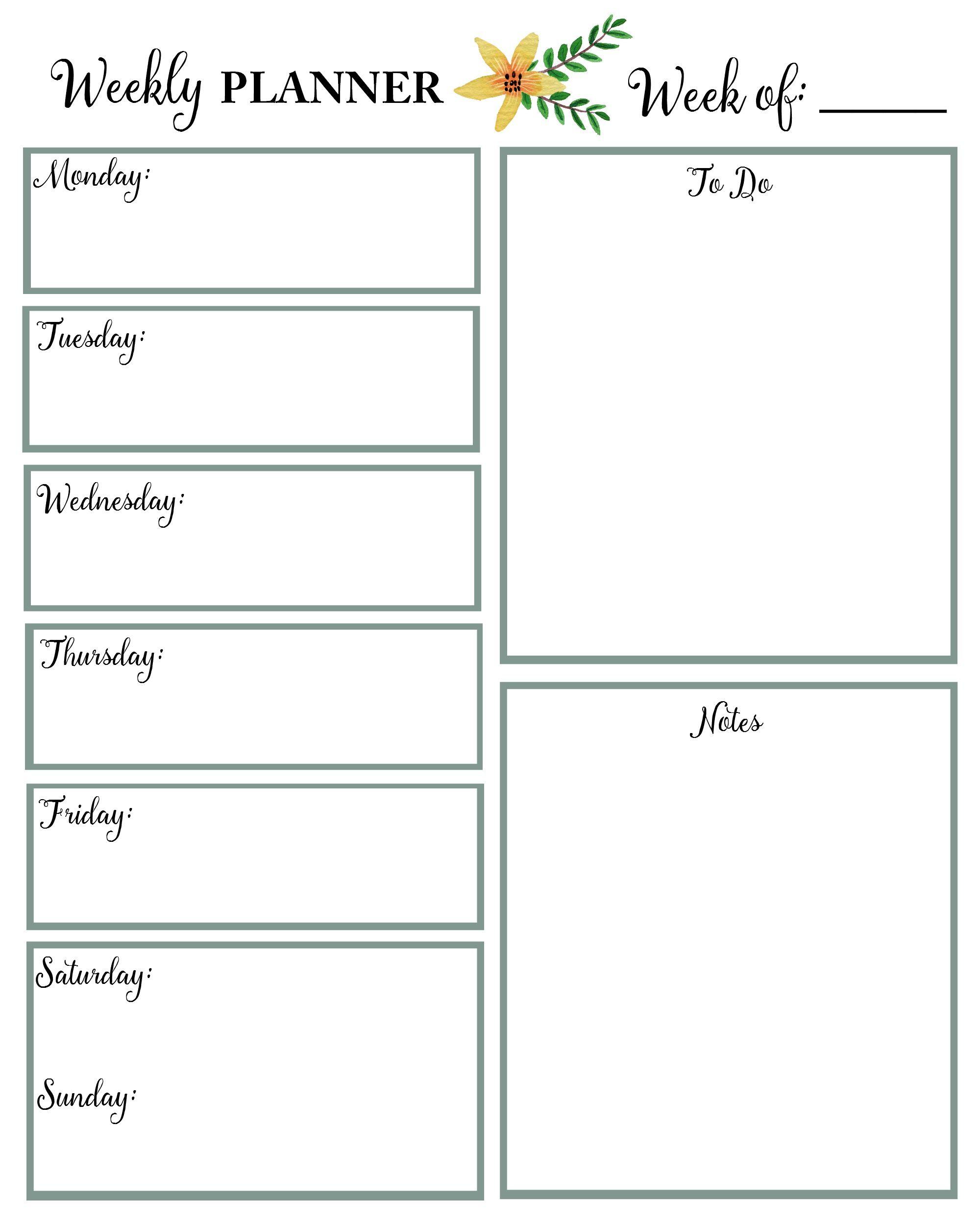 Free Floral 2020 Printable Calendar | Weekly Planner