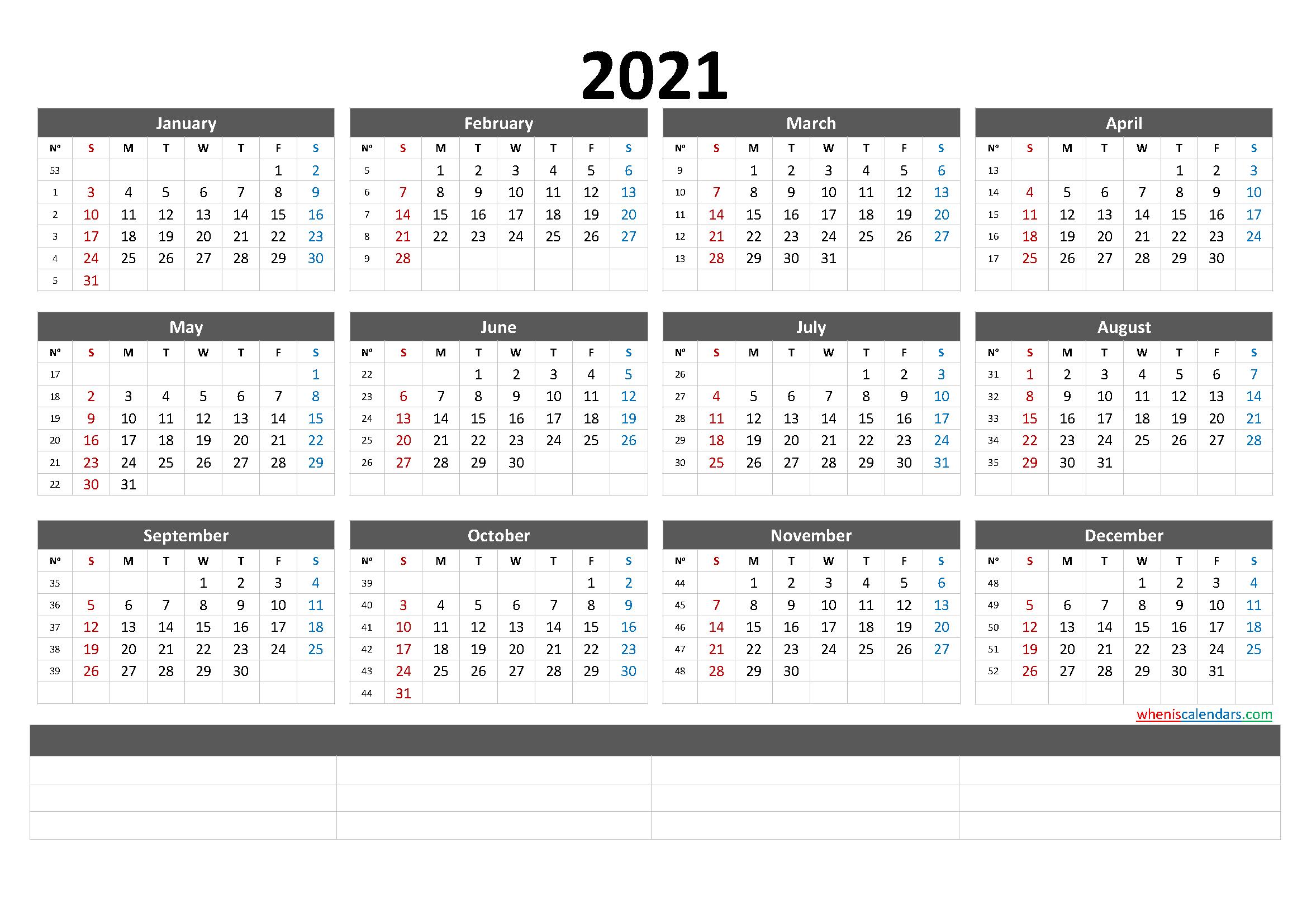 Free Printable 2021 Calendarmonth (6 Templates) – Free
