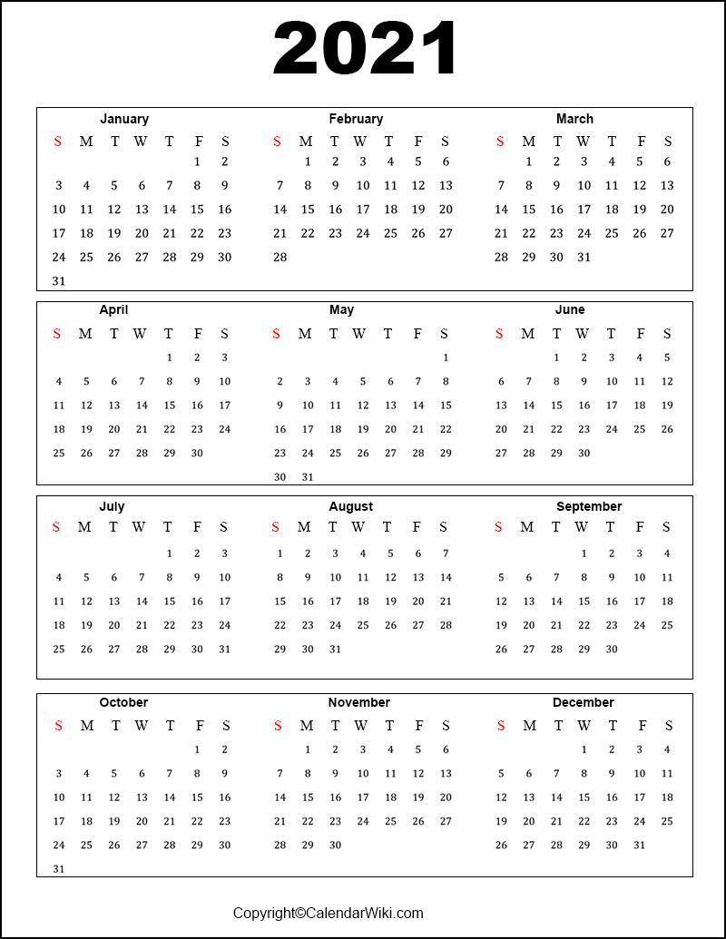 Free Printable Calendar 2021 Templates [Pdf Word]