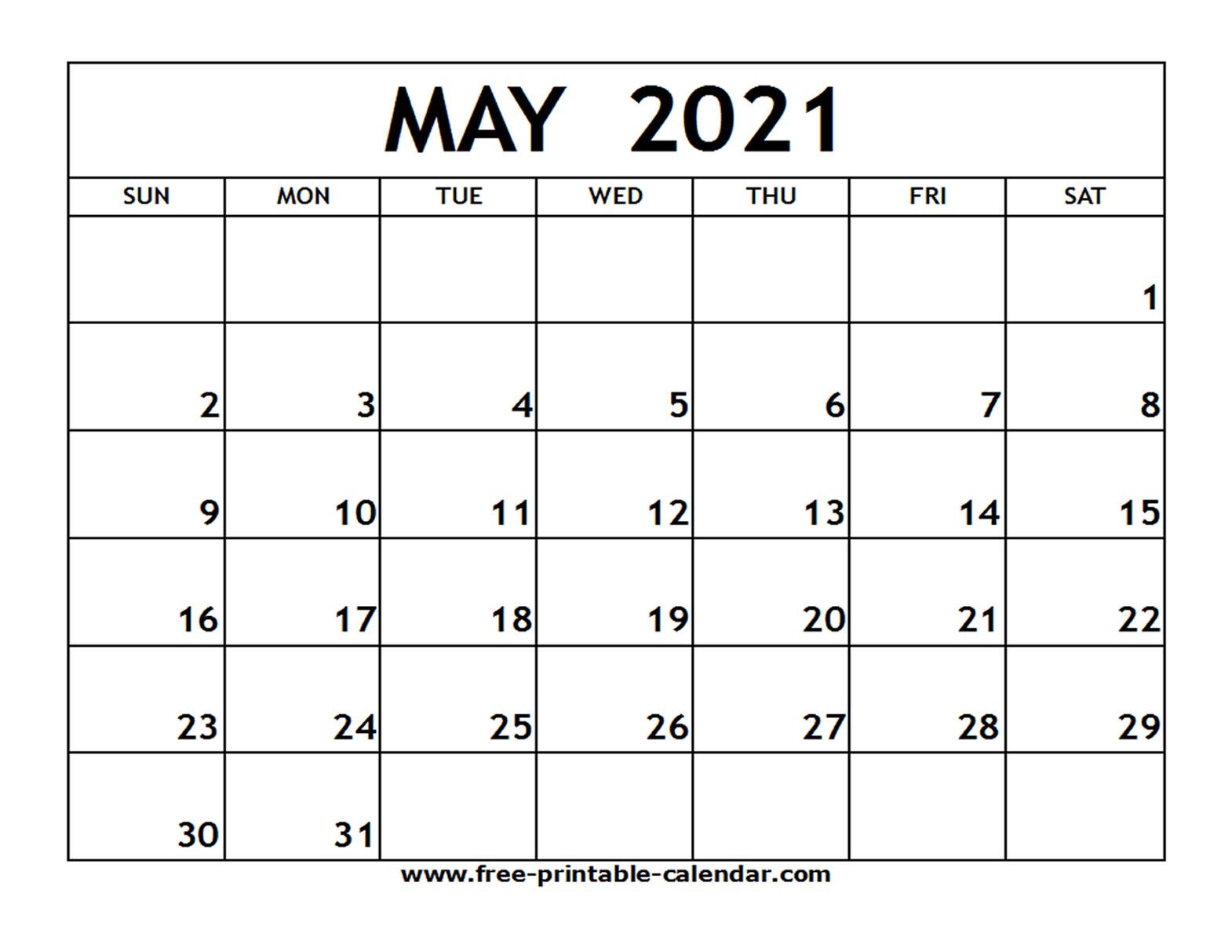 Free Printable Calendar Com 2021