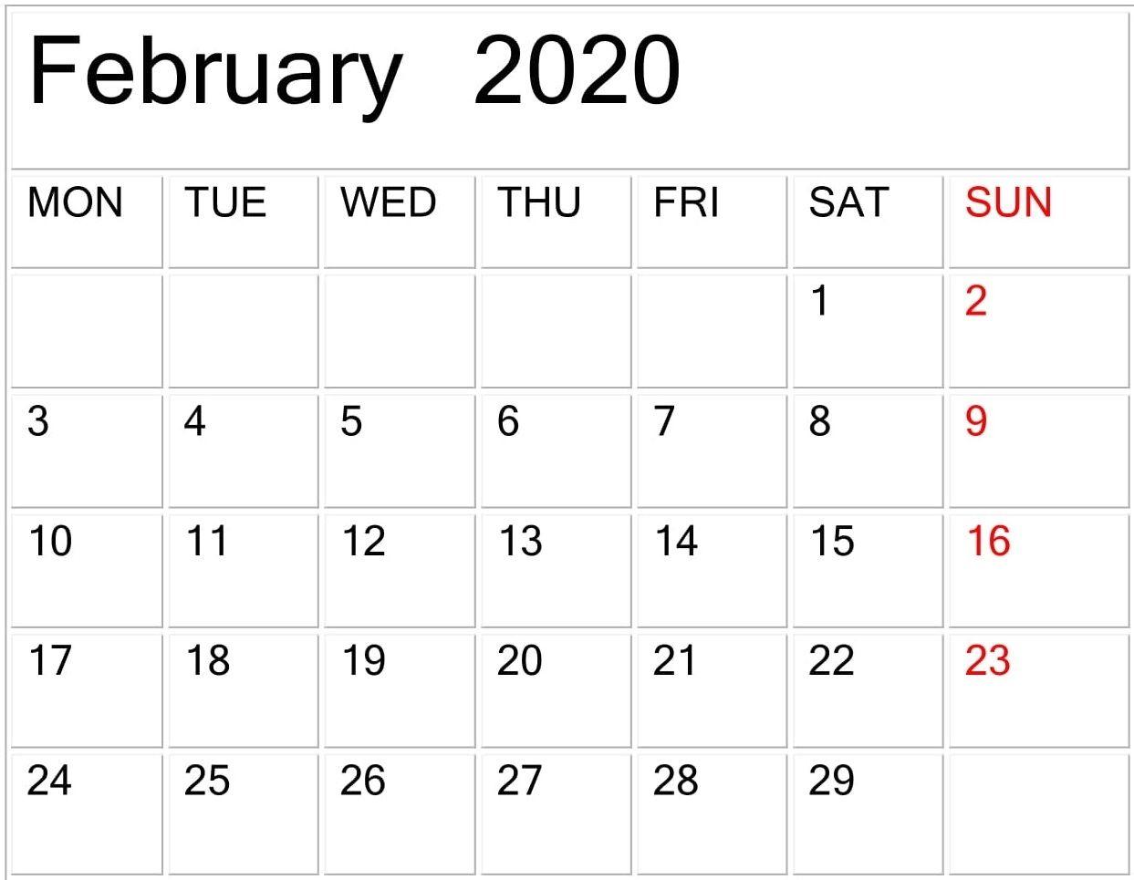 Free Printable Calendar Large Print In 2020 | Printable