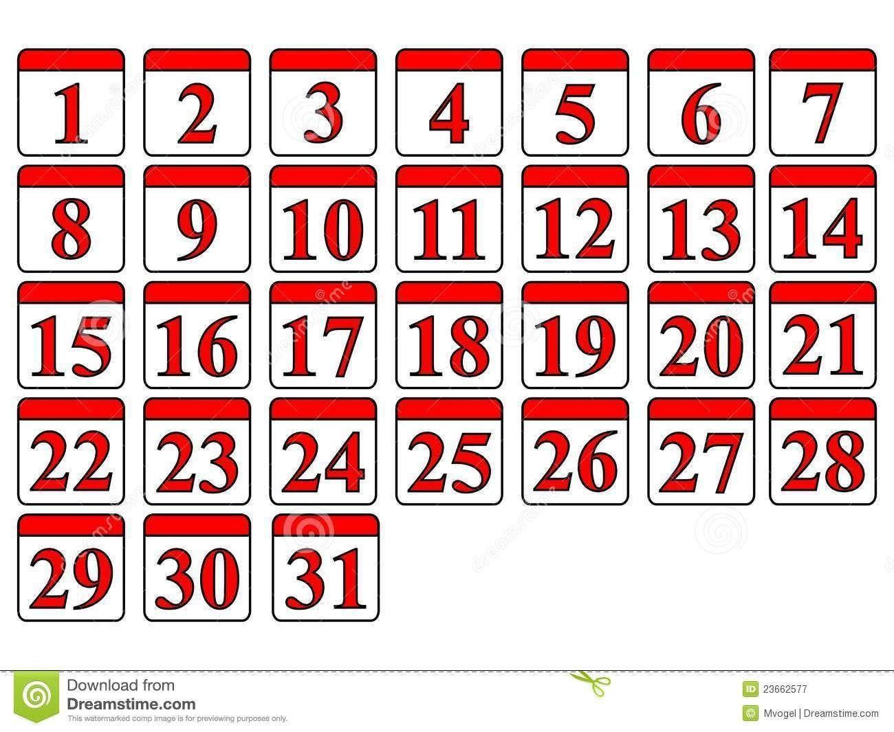Free Printable Calendar Numbers 1-31 May In 2020 | Printable