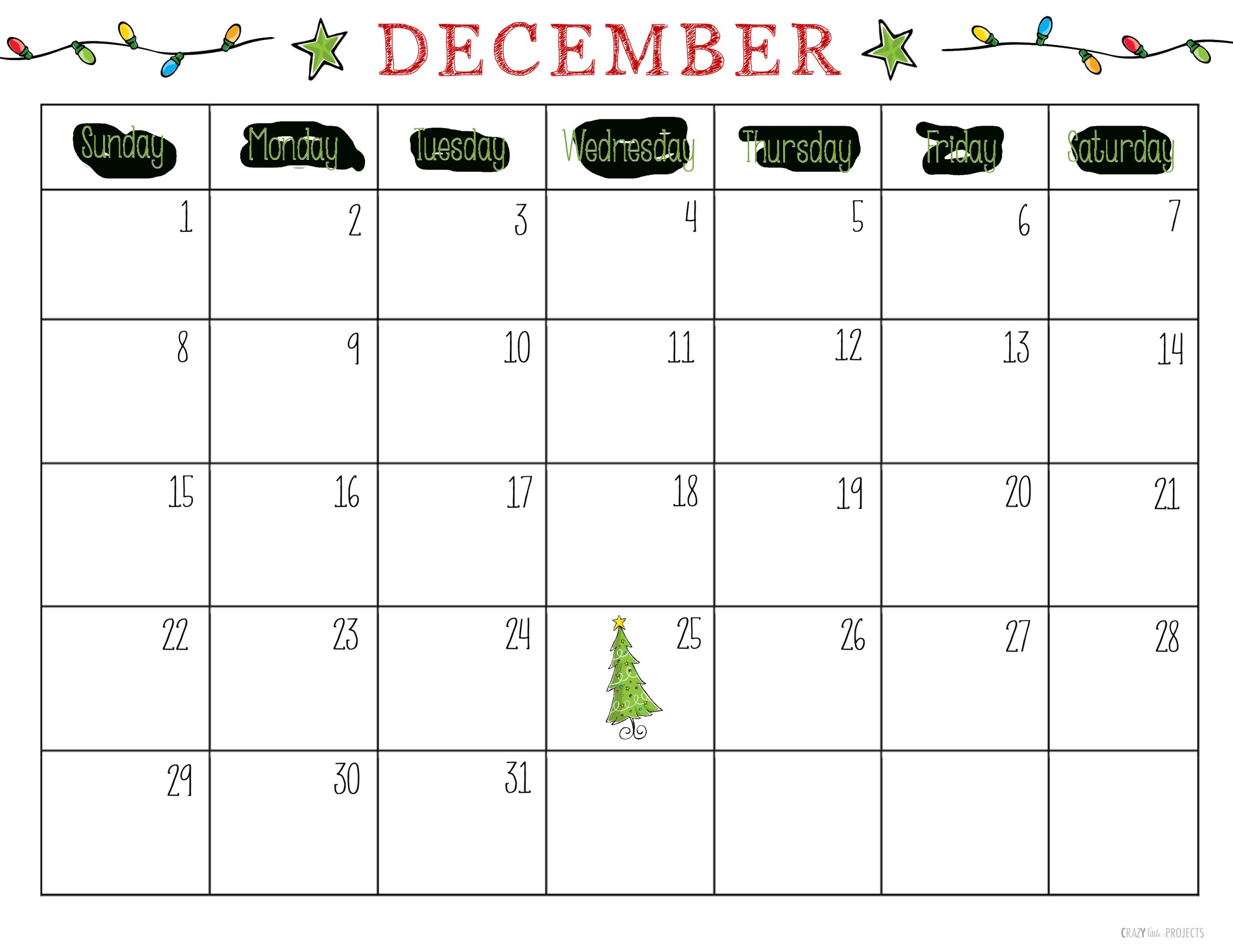 Free Printable Christmas Planner | Printable December