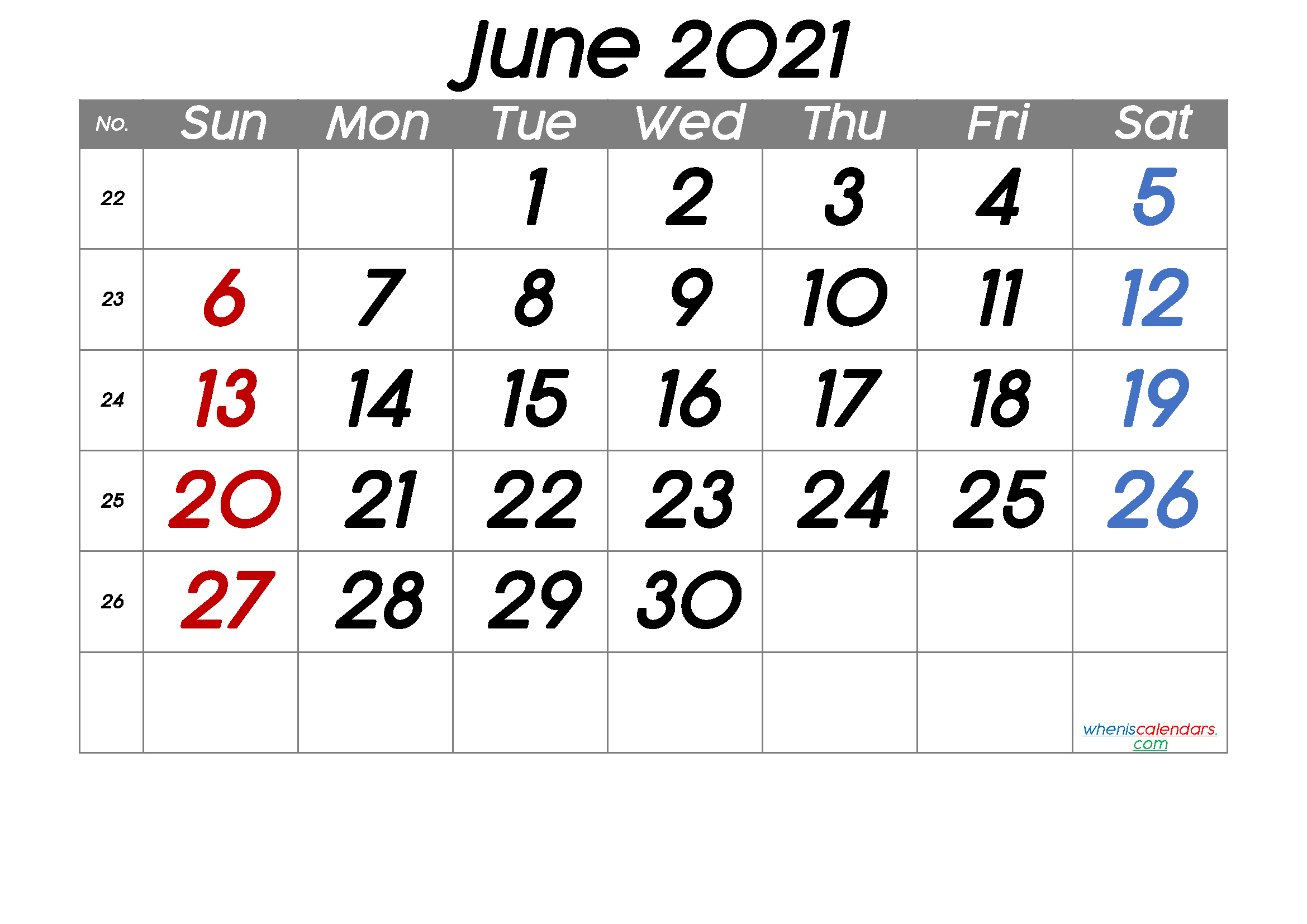 Free Printable June 2021 Calendar (Premium) In 2020