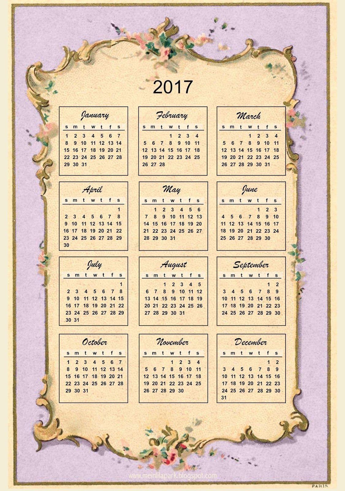 Free Printable Victorian Calendar In 2020 | Free Printable