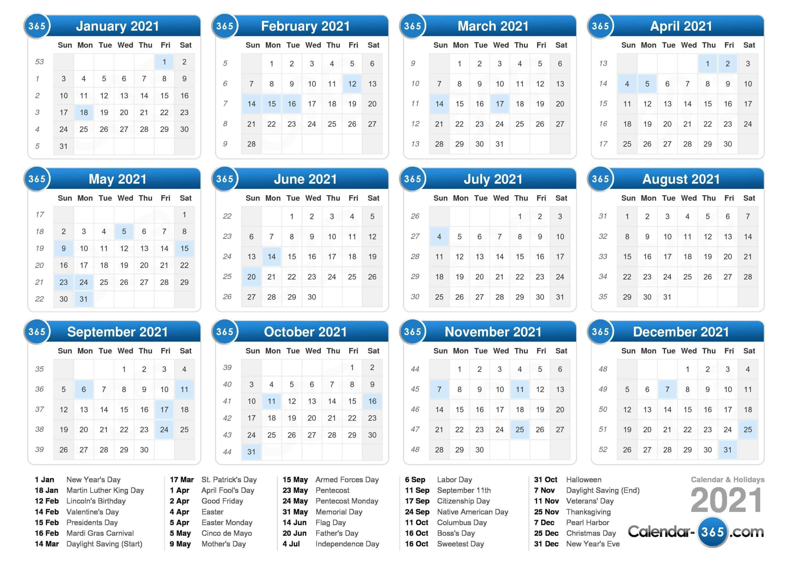 Free Printable Weekly Calendar 2021 – Delightful To Be Able