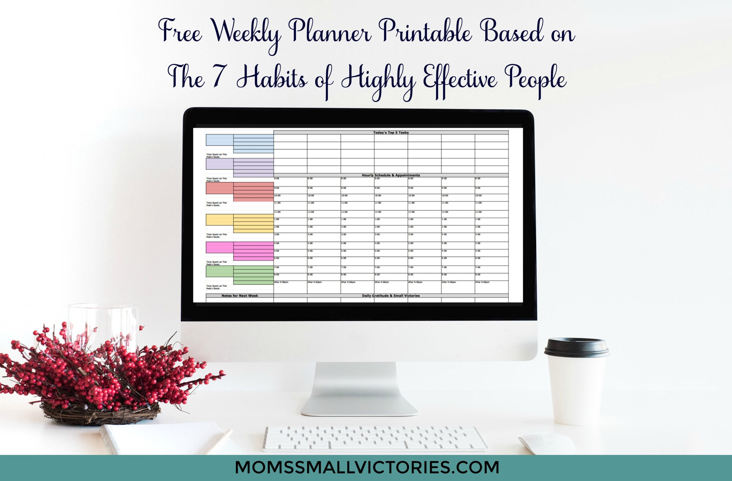 Free Weekly Planner Based On The 7 Habits Of Highly