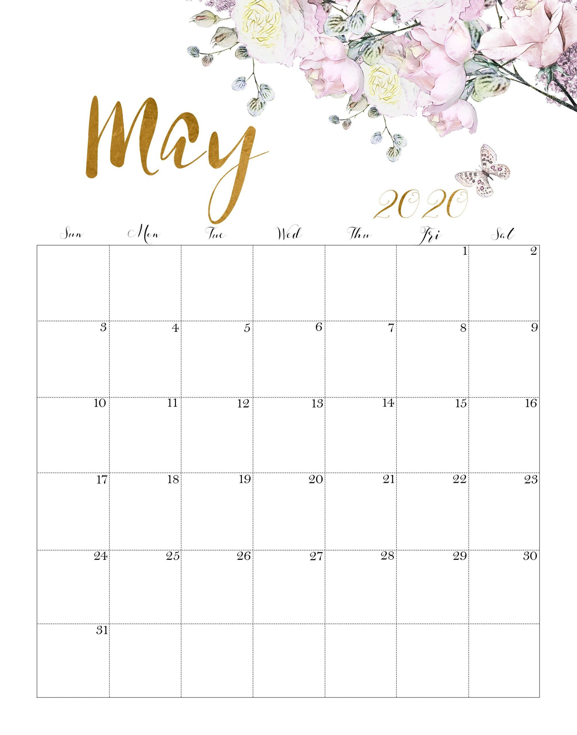 Here Are Some Examples Of May 2020 Calendar That You Can