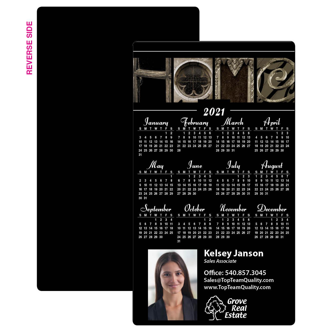 Home Year-At-A-Glance Calendar Magnet