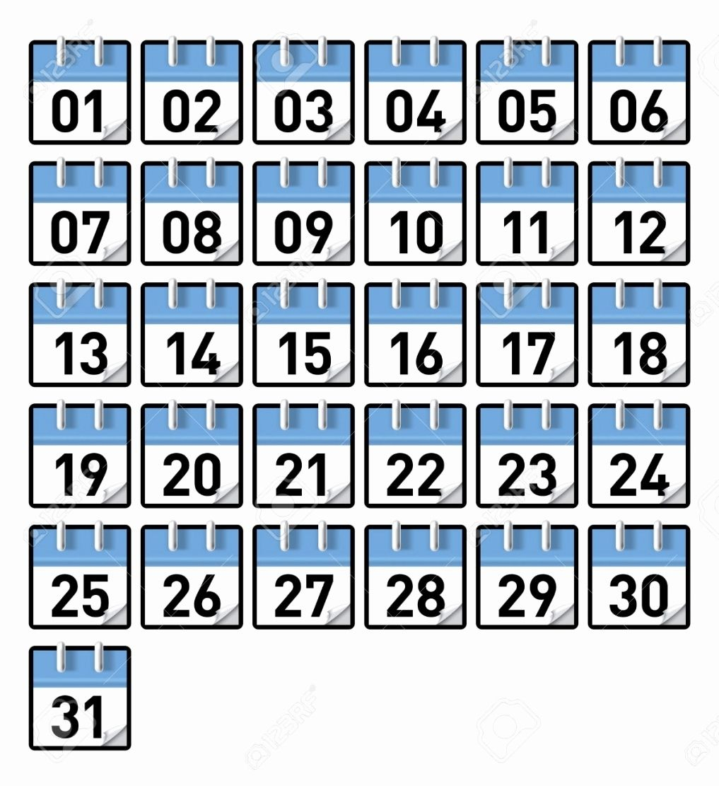 Image Result For 1-31 | Printable Calendar Numbers Calendar