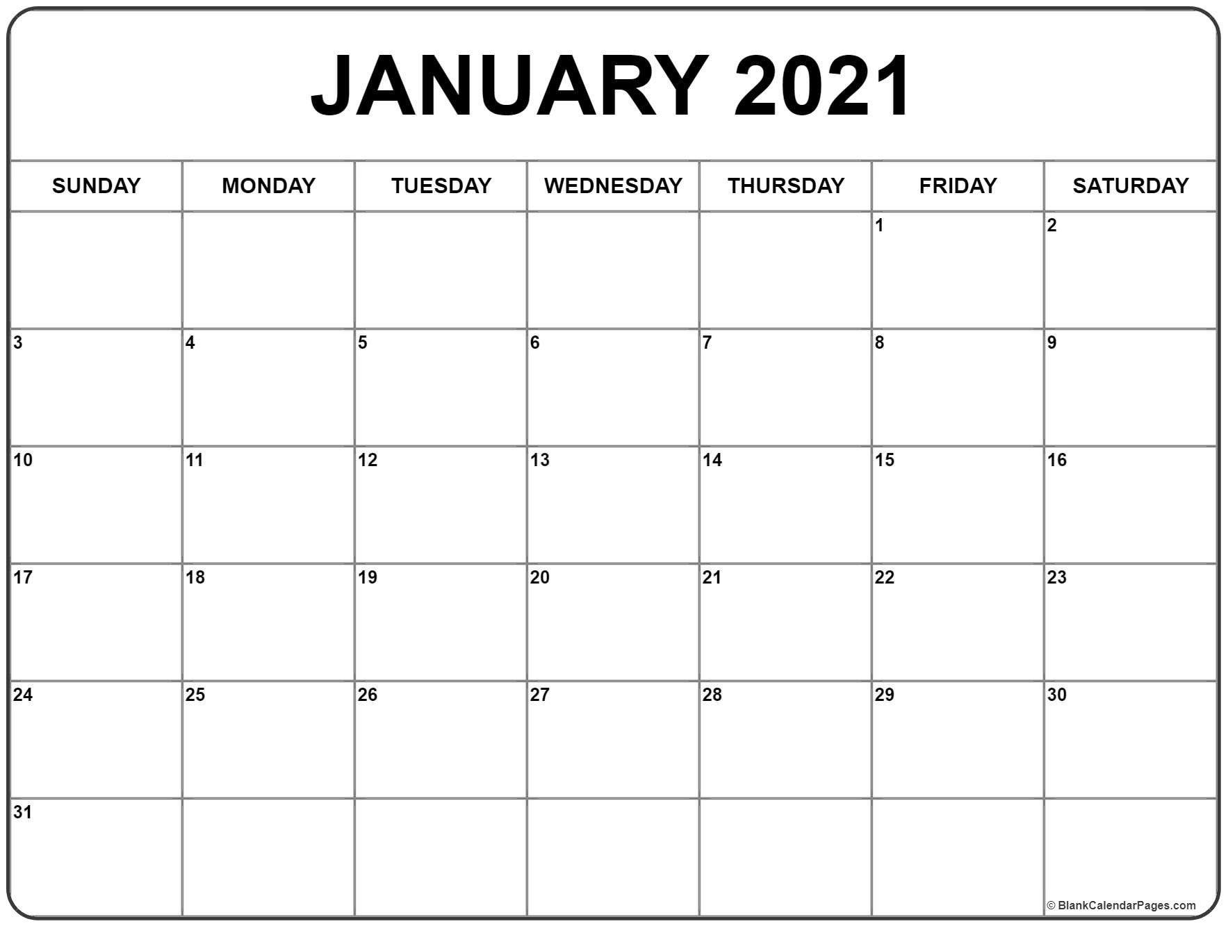 January 2021 Printable Calendar In 2020 | Monthly Calendar