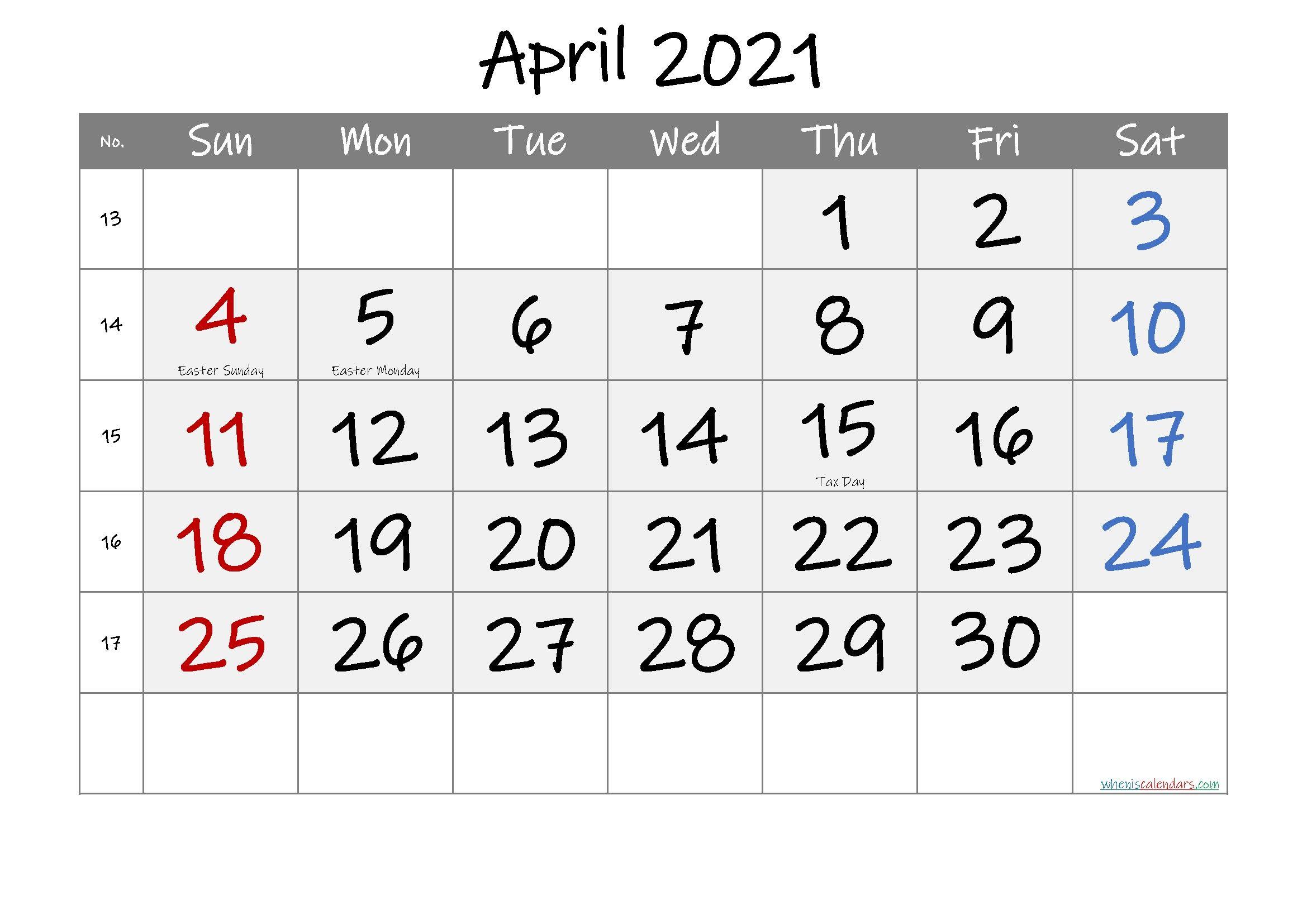January To April 2021 Calendar In 2020 | Calendar Printables