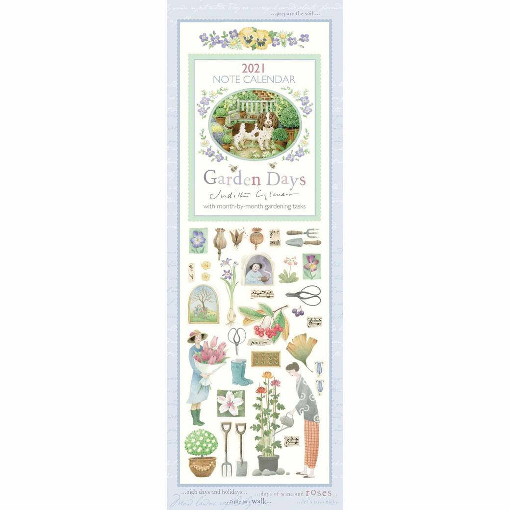 Judith Glover Garden Days Slim Calendar 2021 At Calendar Club