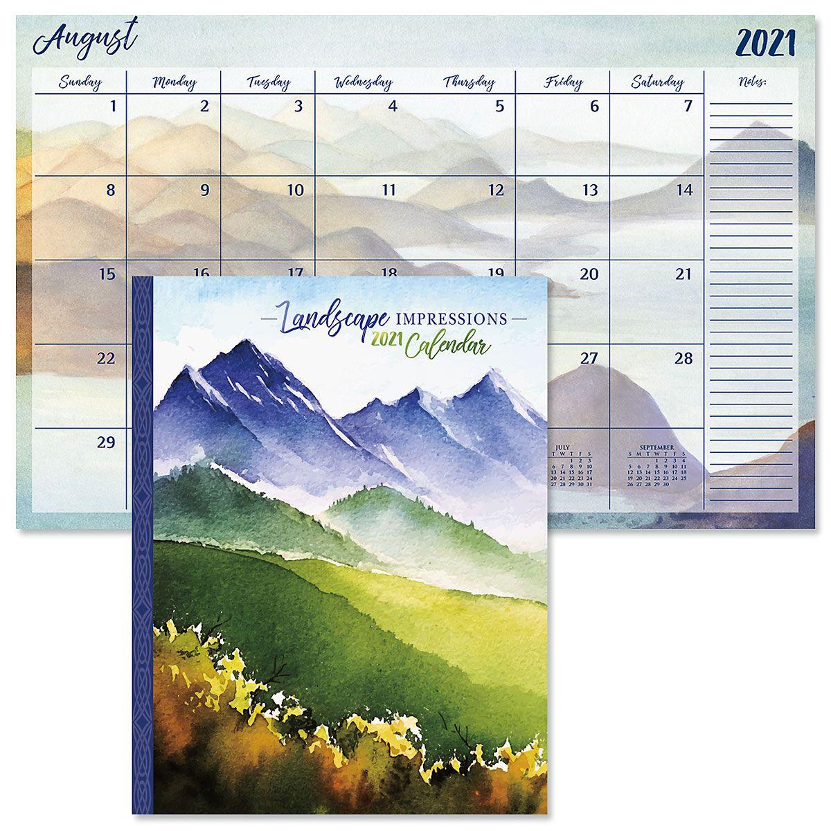 Landscape Impressions Desk Calendar 2021