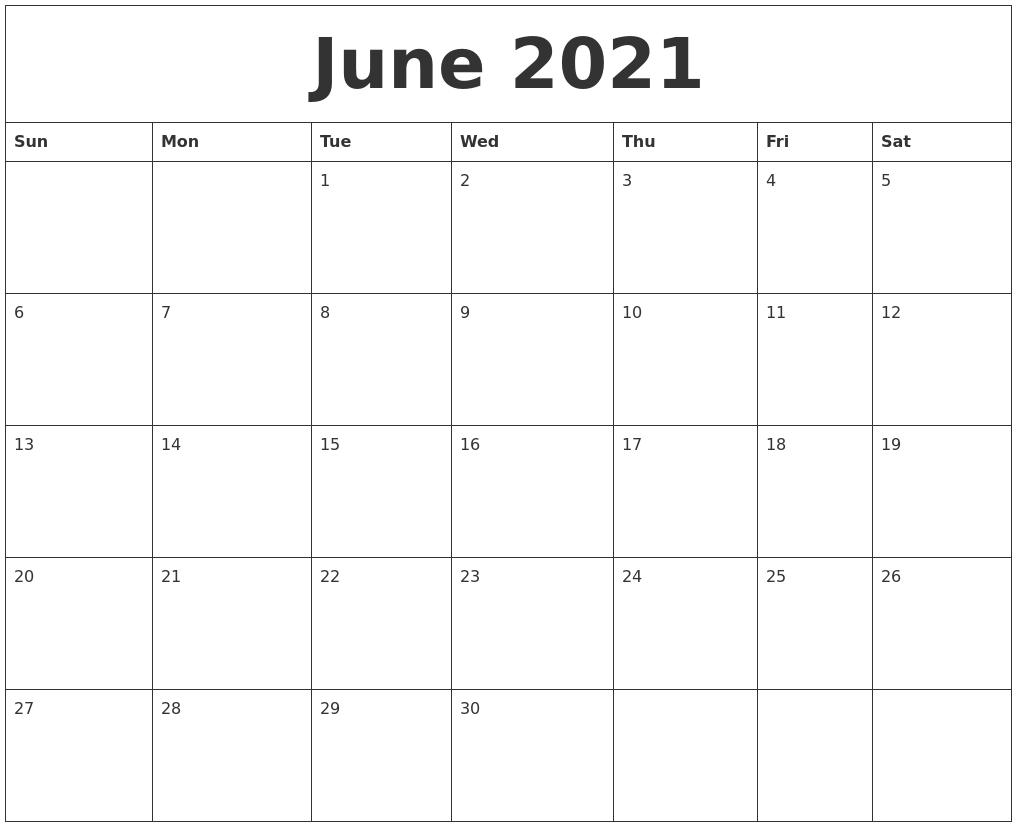 May 2021 Editable Calendar Template