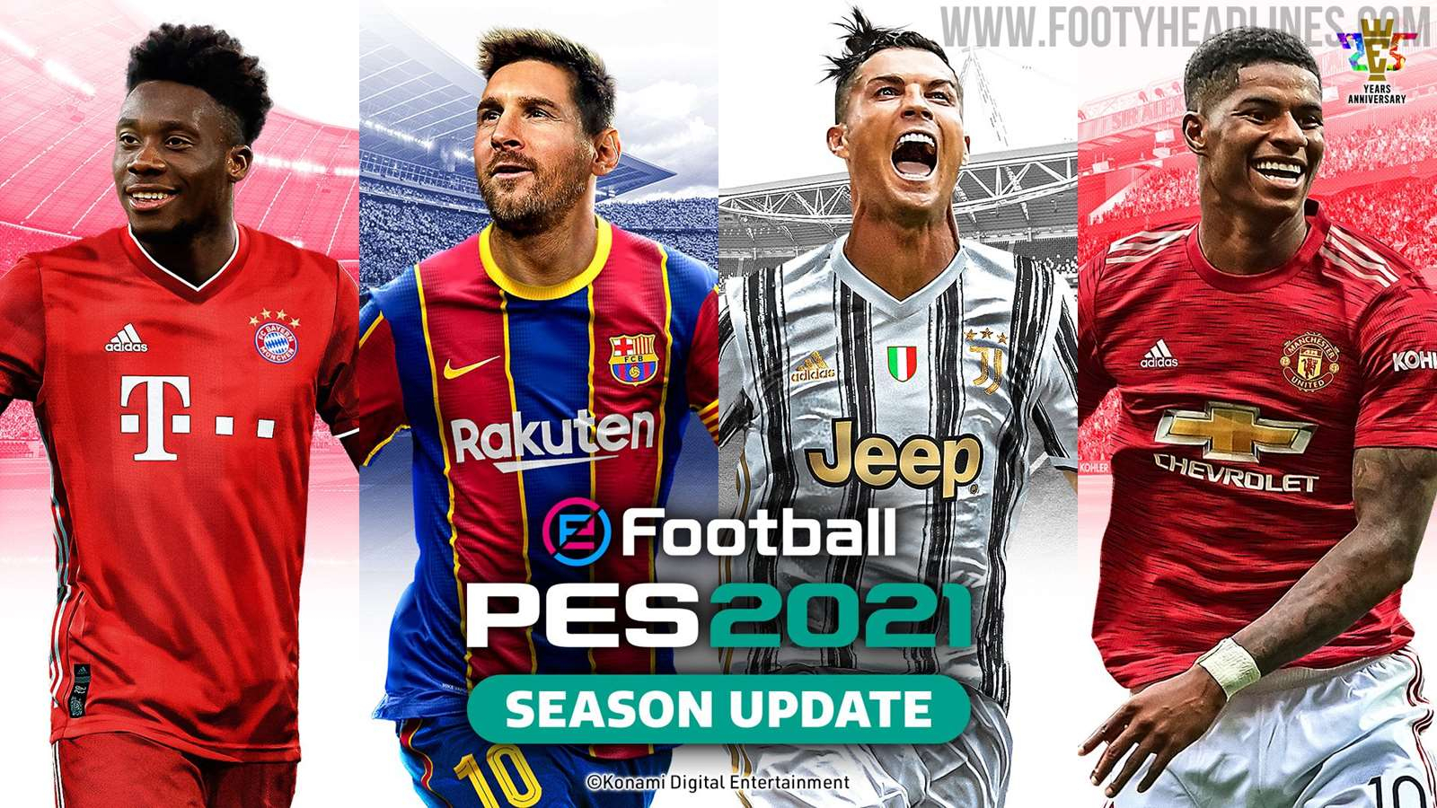 Messi + Ronaldo: Pes 2021 Cover Revealed - Footy Headlines