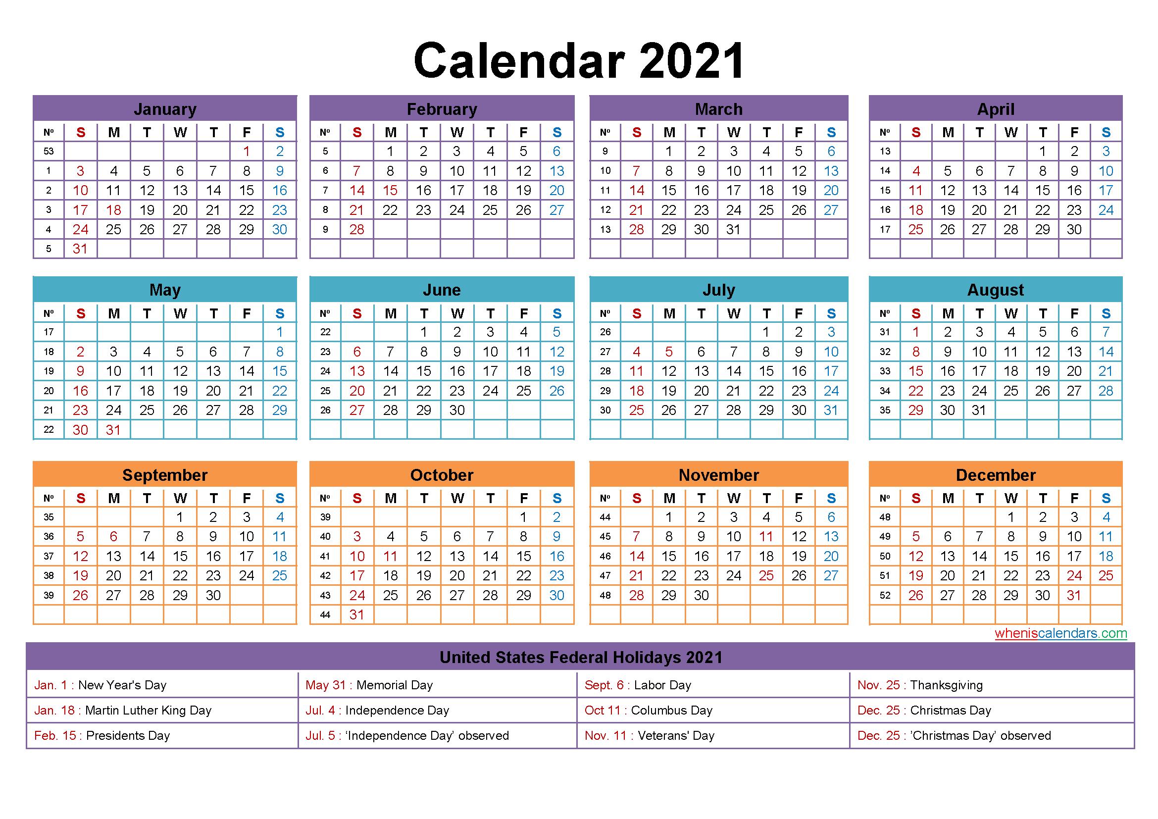 Mini Desk Calendar 2021 Free Printable – Free 2020 And 2021