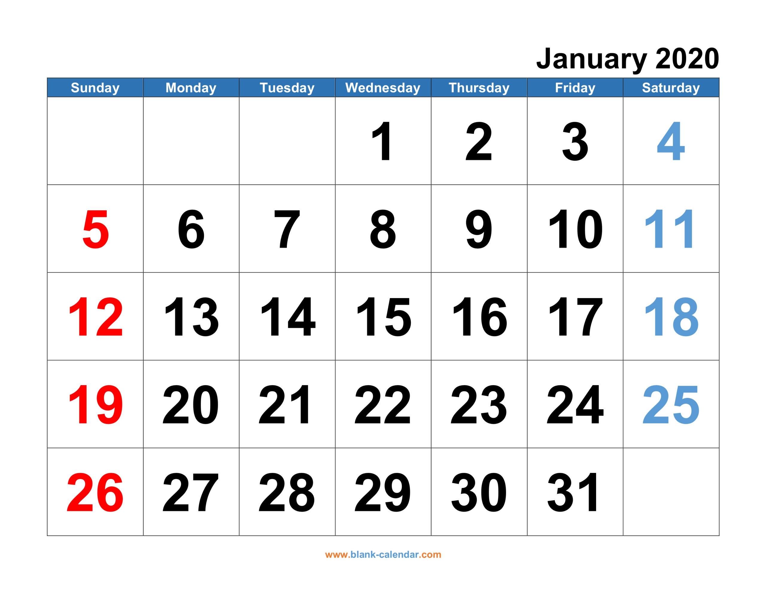 Monthly Calendar 2020 | Free Download Editable And Printable