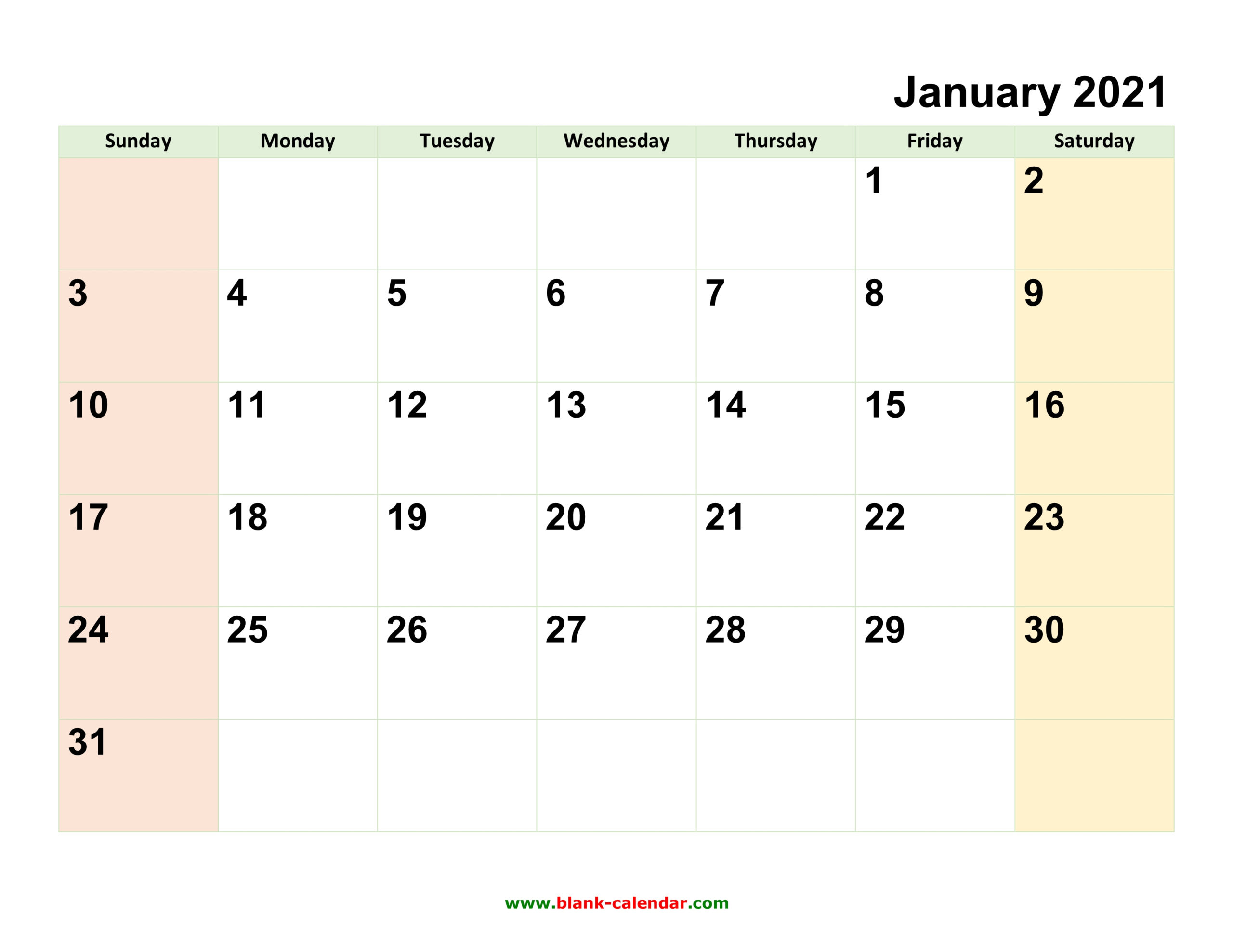 Monthly Calendar 2021 | Free Download Editable And Printable