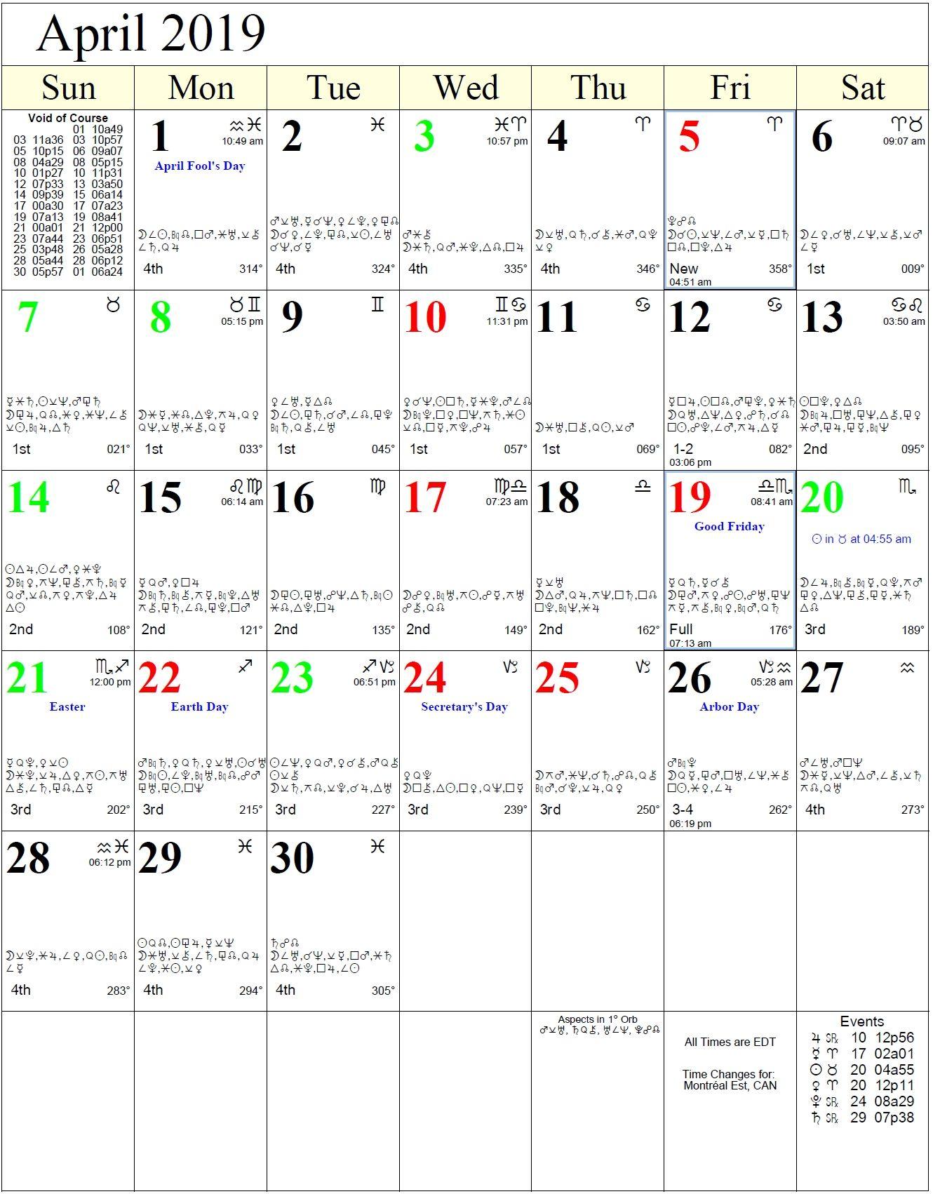 Moon Calendar With Zodiac Signs In 2020 | Astrology Calendar